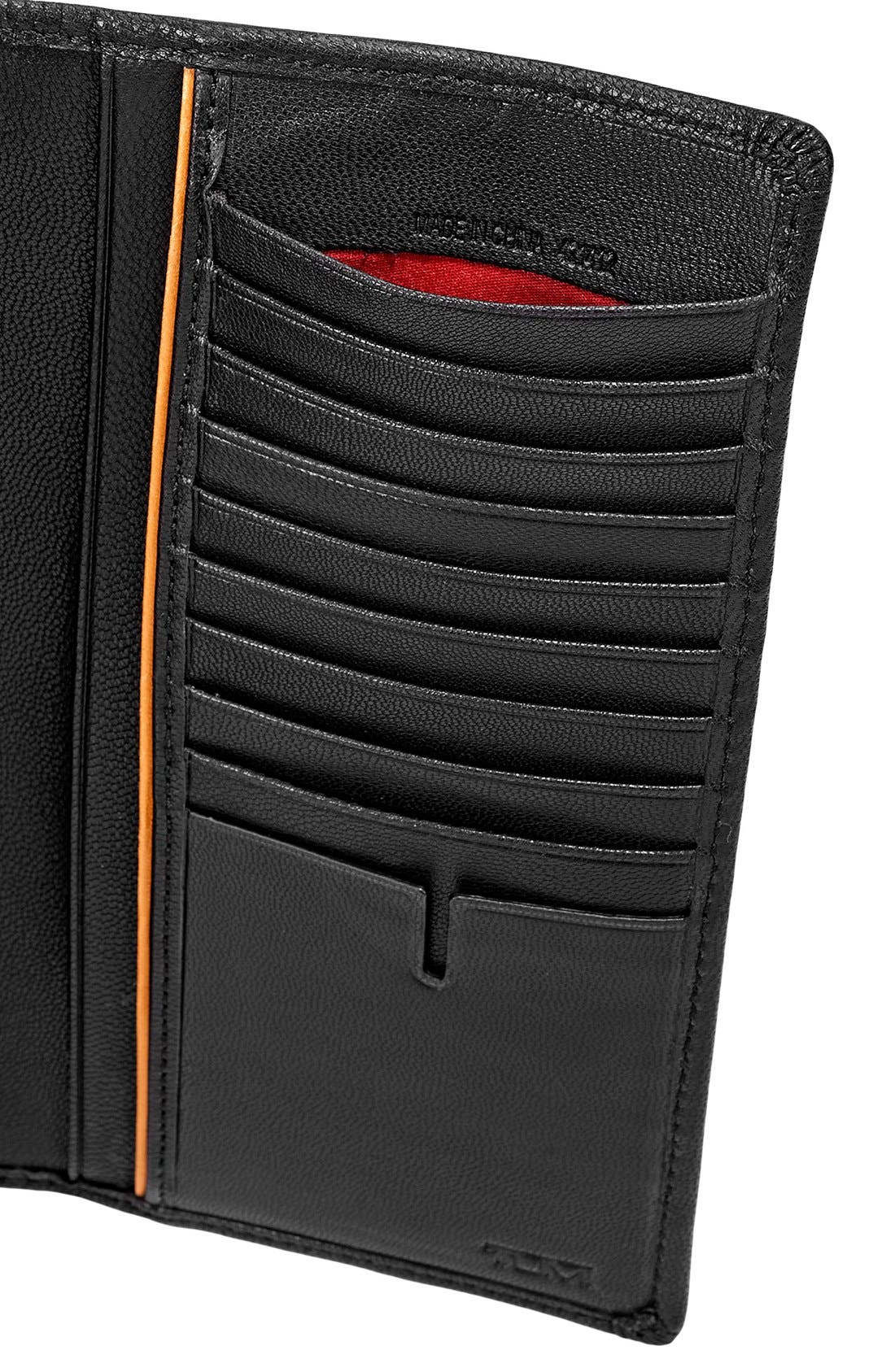 TUMI,                             'Chambers' Leather Breast Pocket Wallet,                             Alternate thumbnail 3, color,                             001