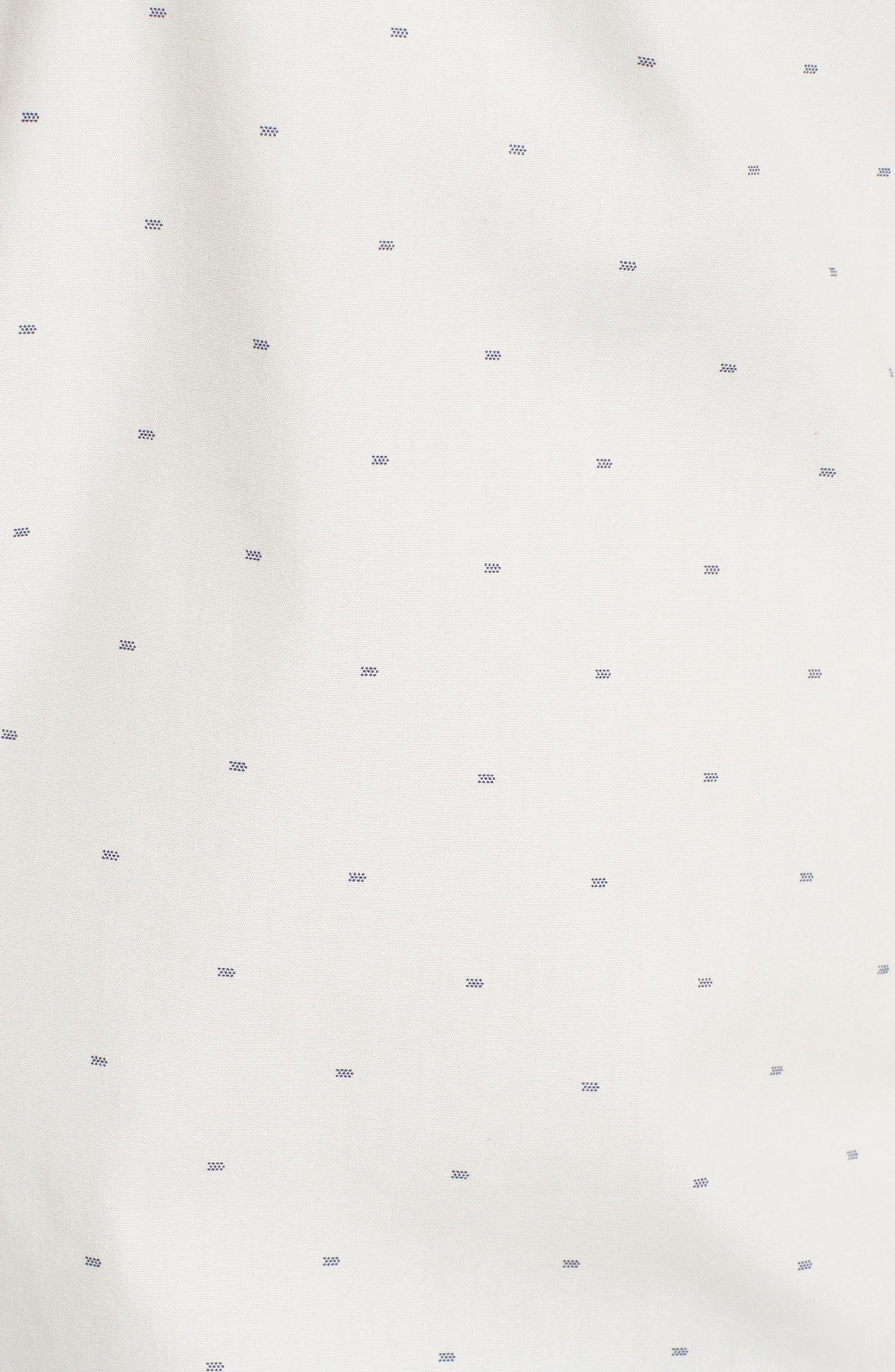 Trim Fit Non-Iron Dobby Sport Shirt,                             Alternate thumbnail 5, color,                             900