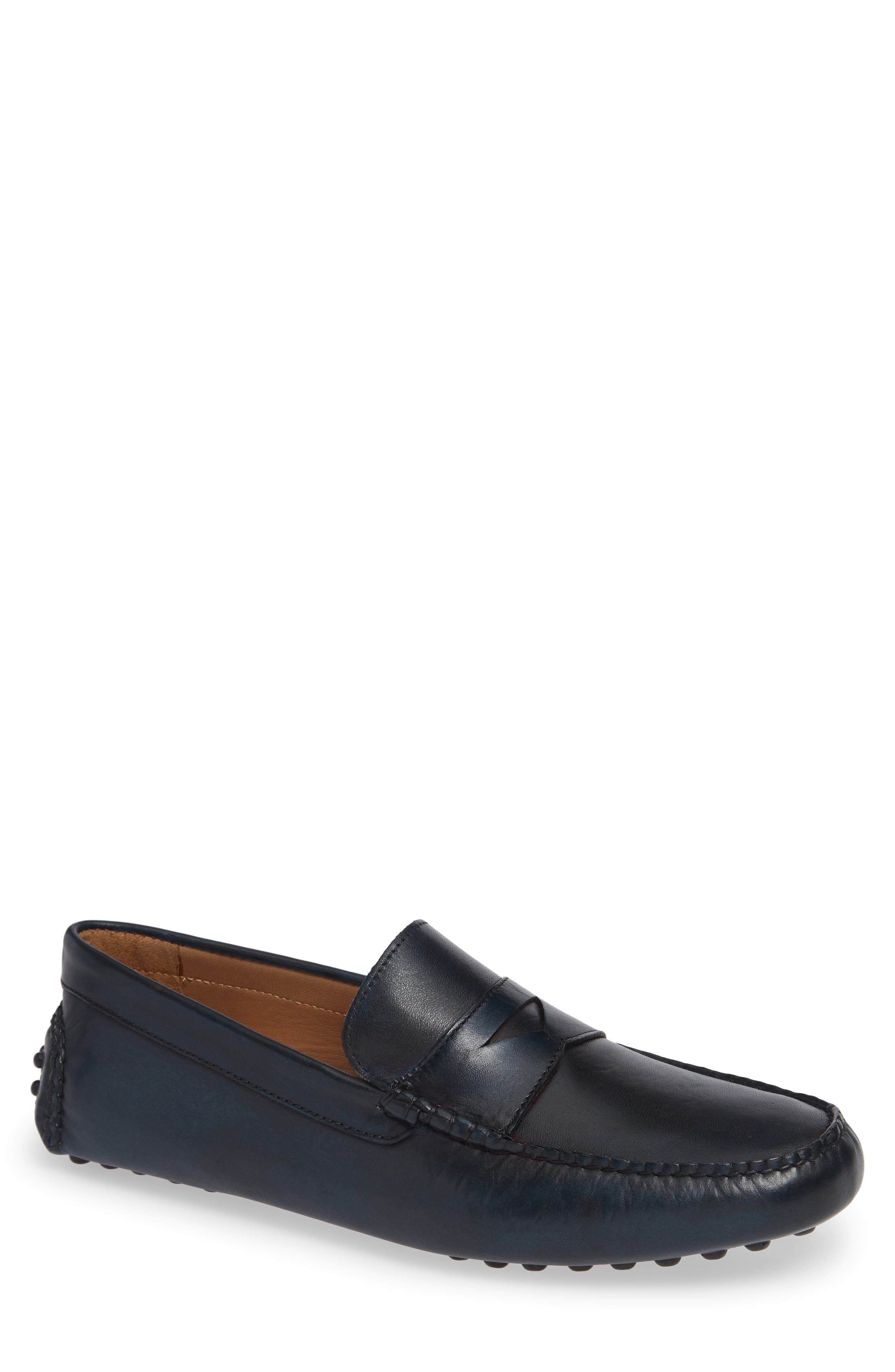 Eaton Driving Shoe,                         Main,                         color, NAVY LEATHER