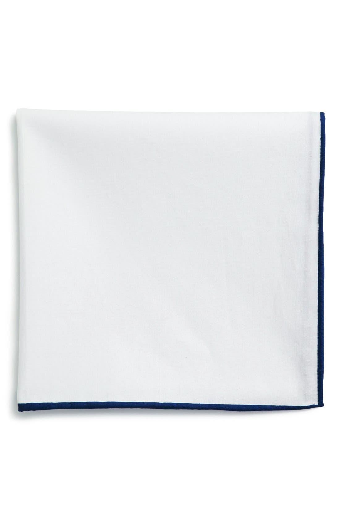 Cotton Solid Pocket Square,                             Main thumbnail 4, color,