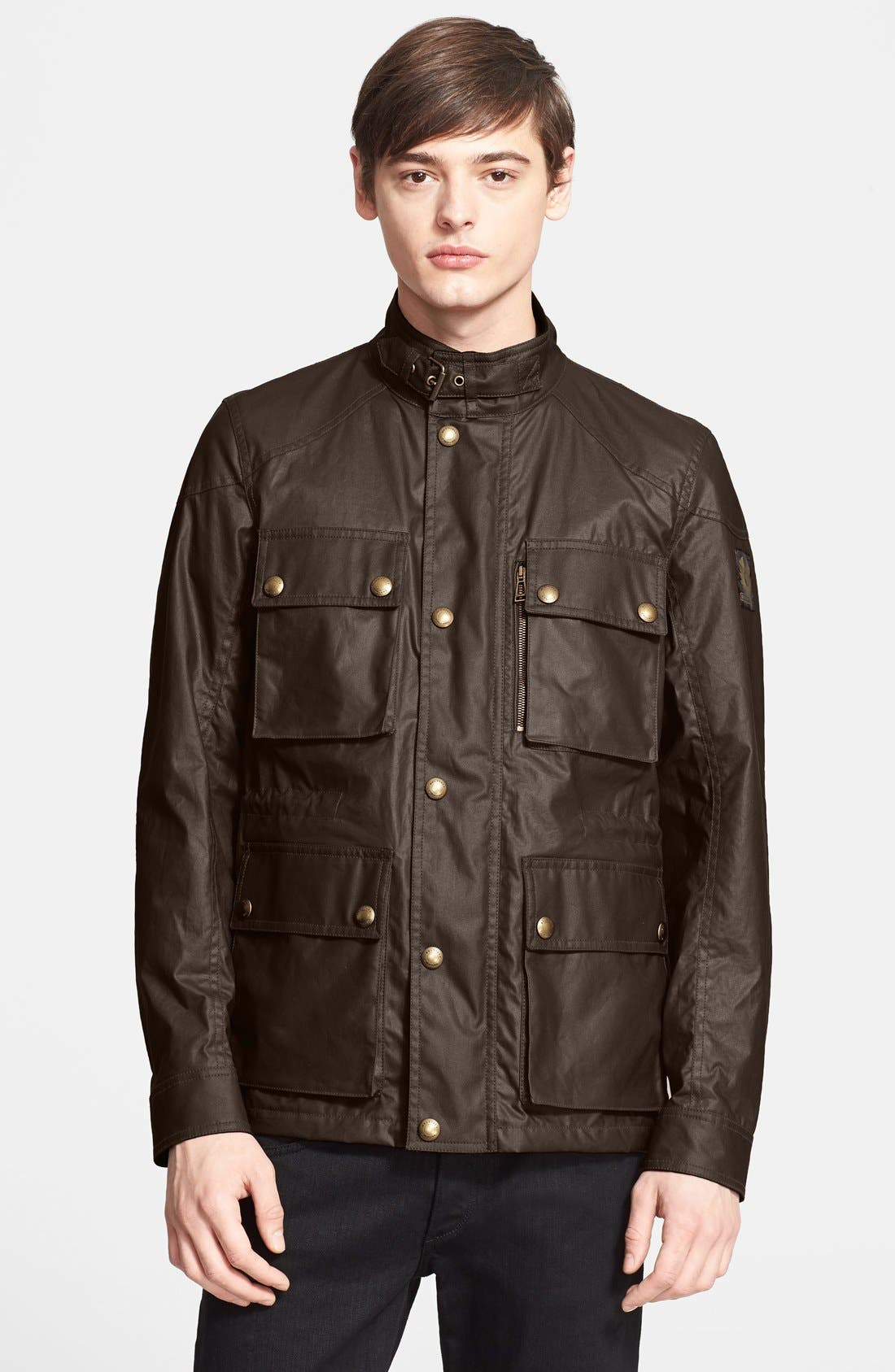 'Trialmaster 2015' Waxed Cotton Jacket,                             Main thumbnail 2, color,