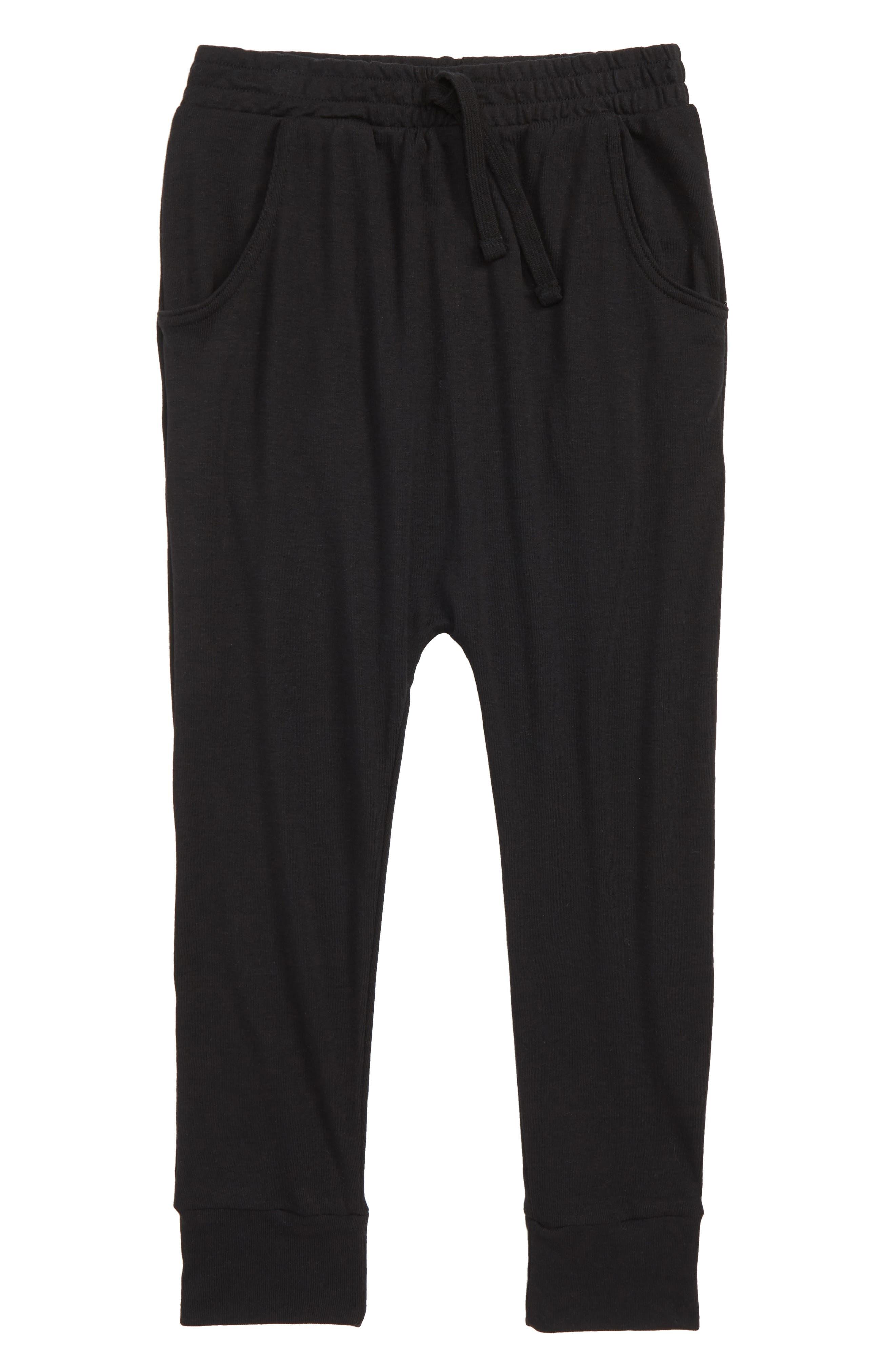 Stretch Cotton Jogger Pants,                             Main thumbnail 1, color,                             BLACK