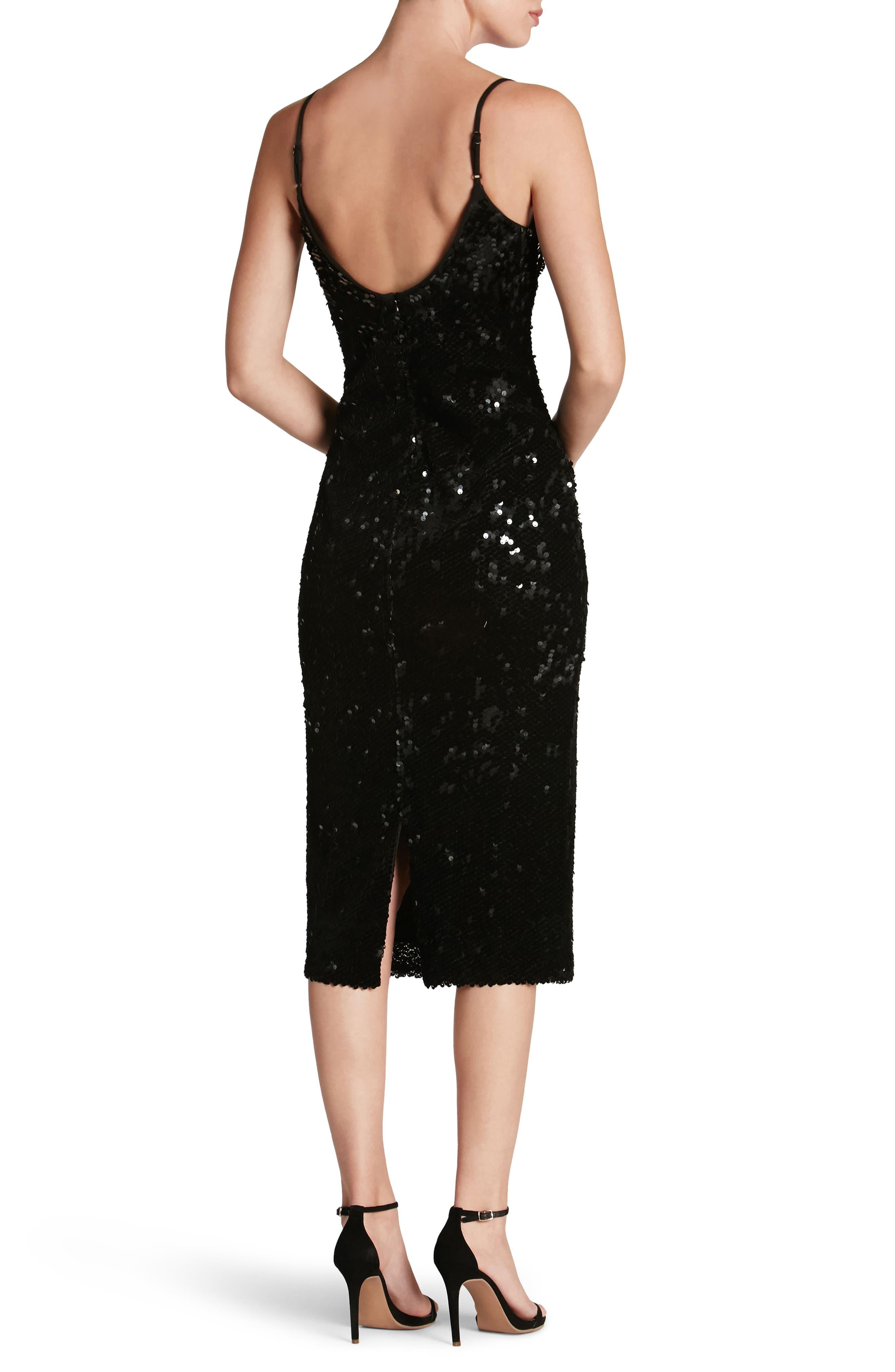 Nina Sequin Velvet Body-Con Dress,                             Alternate thumbnail 2, color,                             001