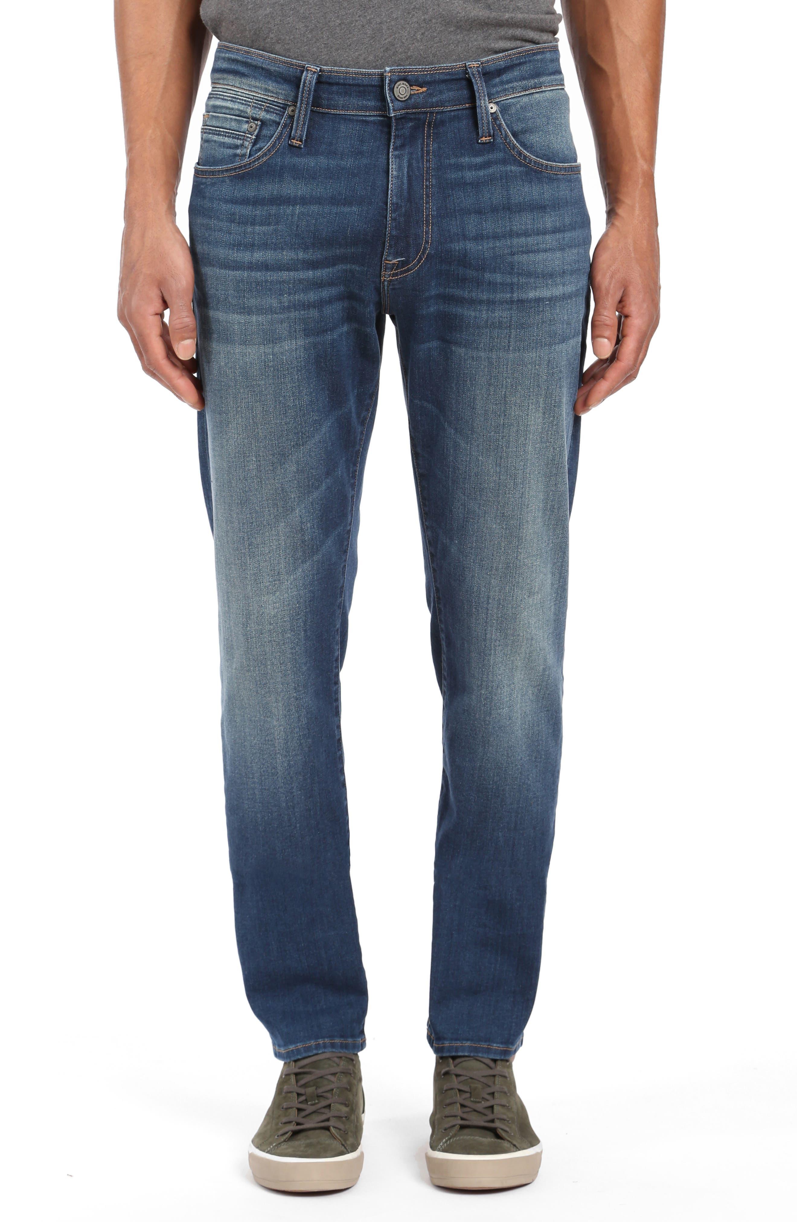 MAVI JEANS Marcus Slim Straight Leg Jeans in Mid Shaded Wiliamsburg