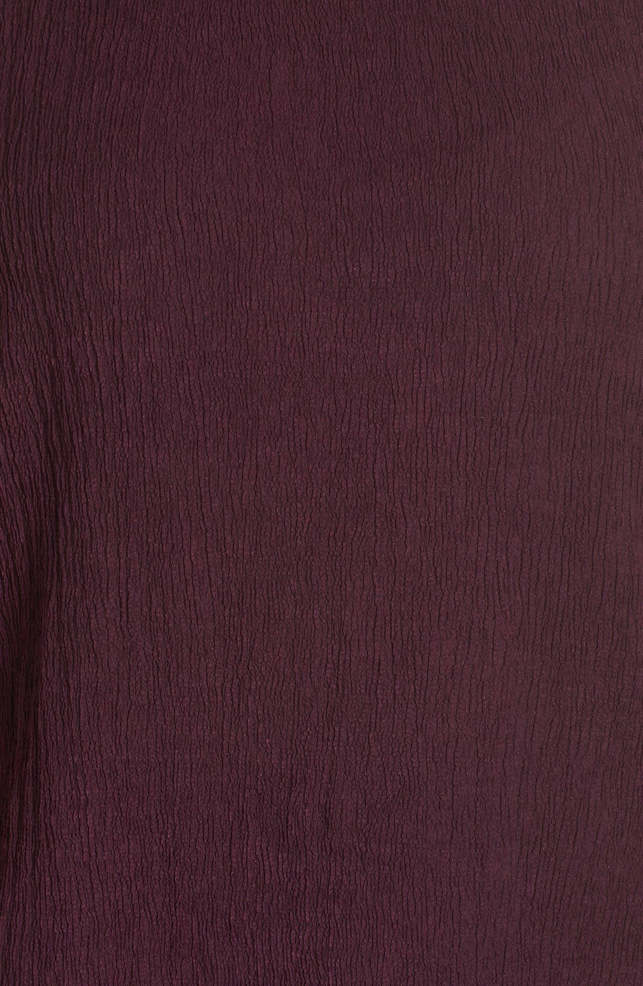 High/Low Crinkle Top,                             Alternate thumbnail 6, color,                             PLUM WINE