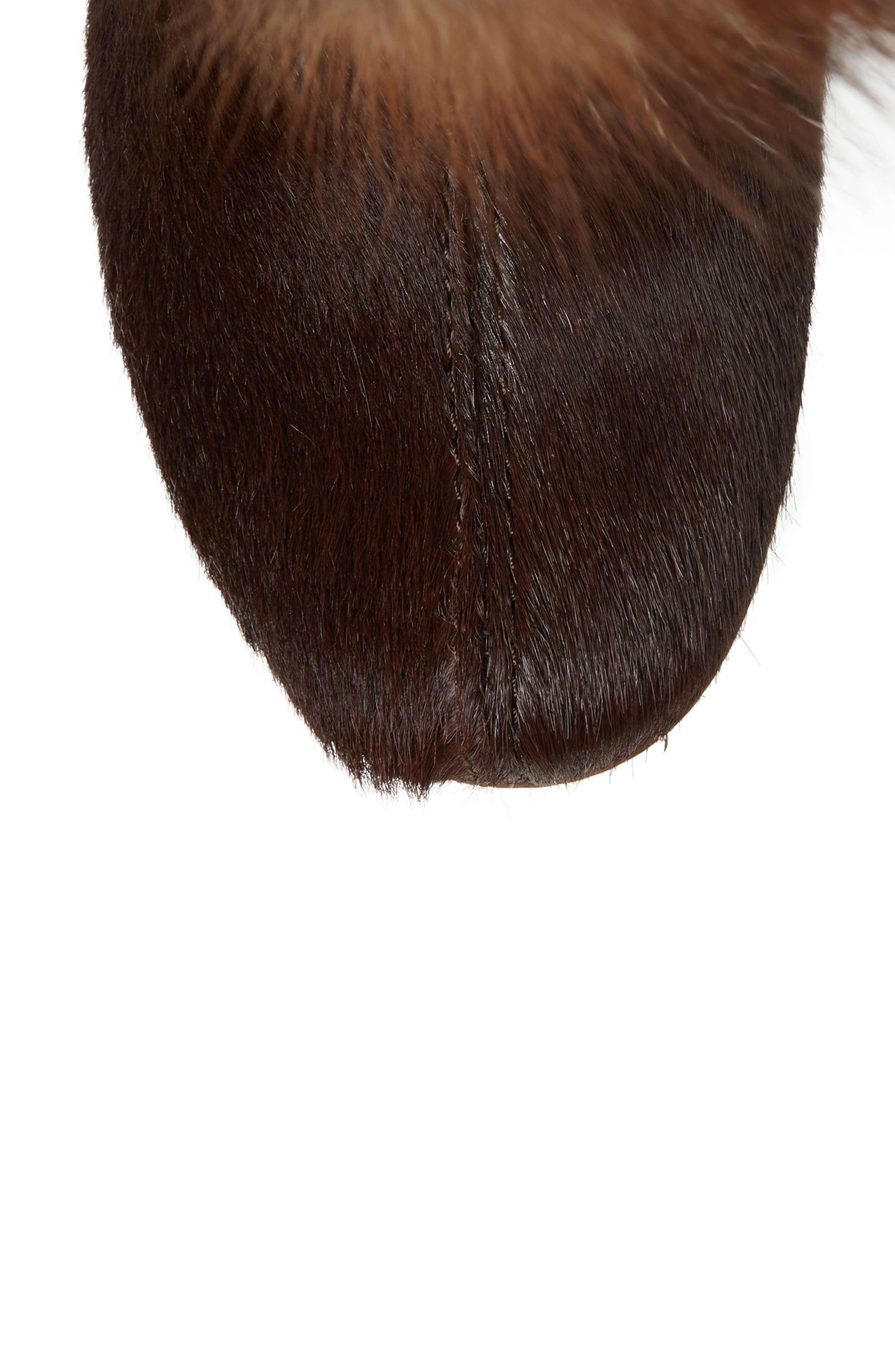 Angelina Genuine Fox Fur Wedge Boot,                             Alternate thumbnail 19, color,