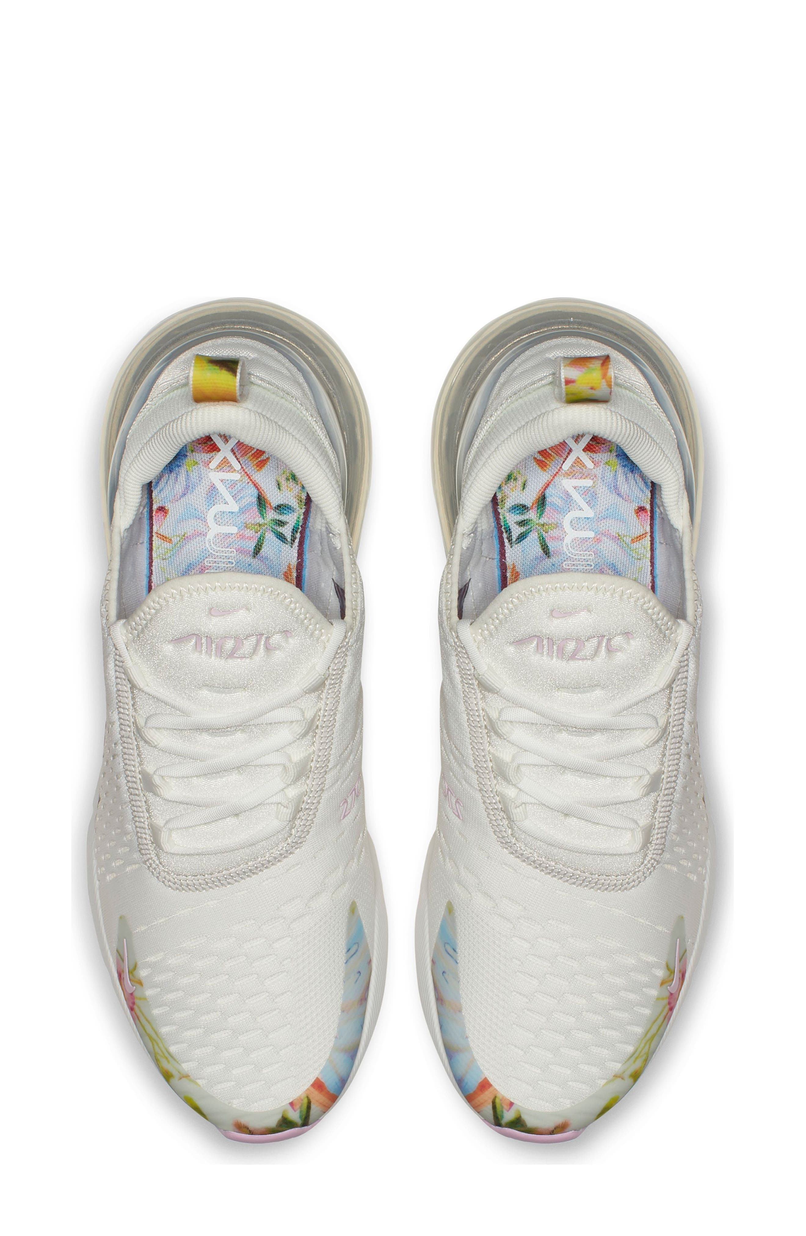 Air Max 270 Premium Sneaker,                             Alternate thumbnail 4, color,                             100