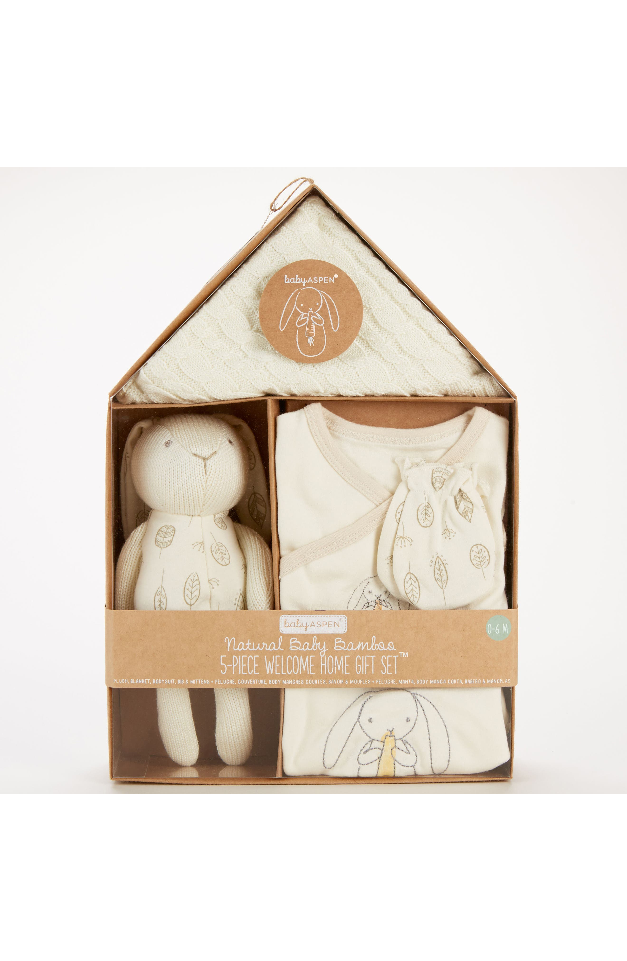 Nature Baby Welcome Home Gift Set,                             Main thumbnail 1, color,                             BEIGE AND GREY