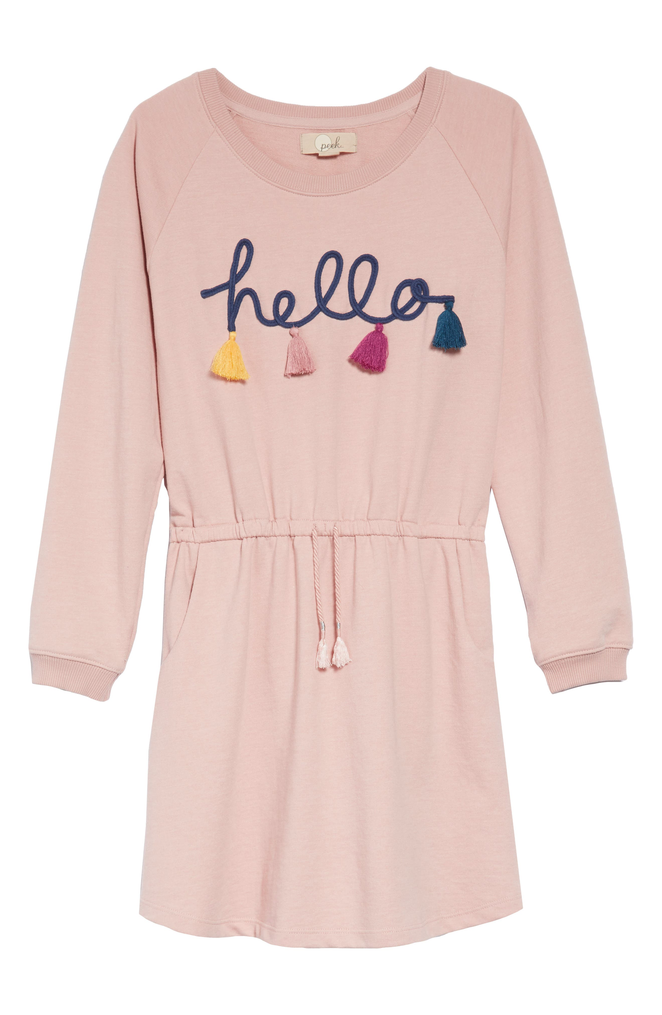 Hello Tassel Dress,                         Main,                         color, PINK