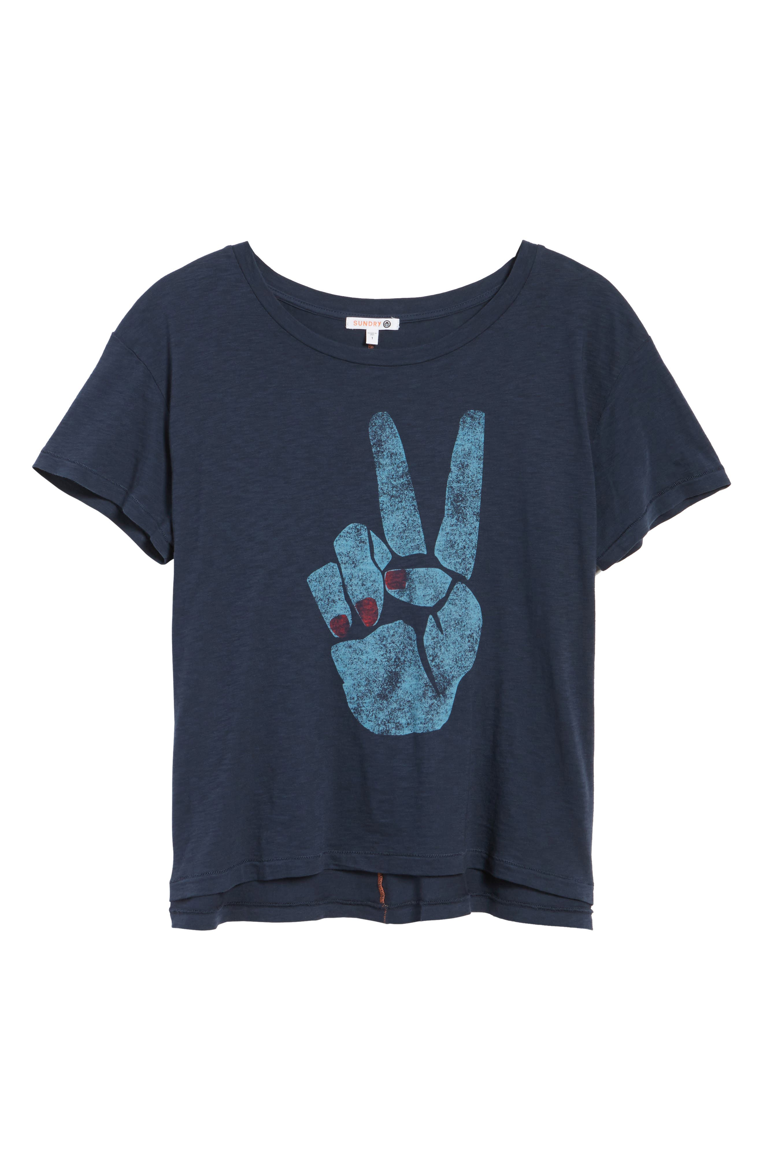 Peace Sign Tee,                             Alternate thumbnail 6, color,                             410