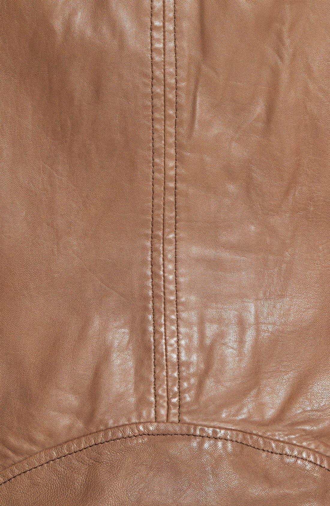 TerriLambskin LeatherMotoJacket,                             Alternate thumbnail 5, color,                             232