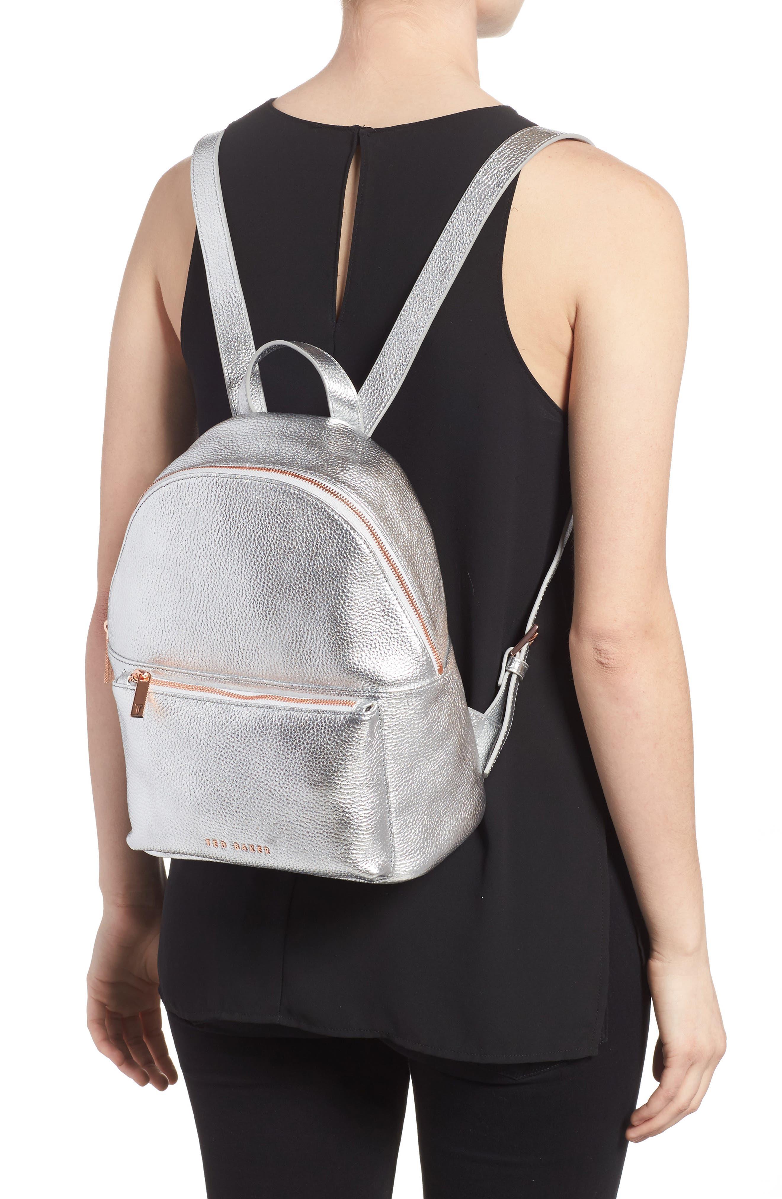 Pearen Leather Backpack,                             Alternate thumbnail 7, color,