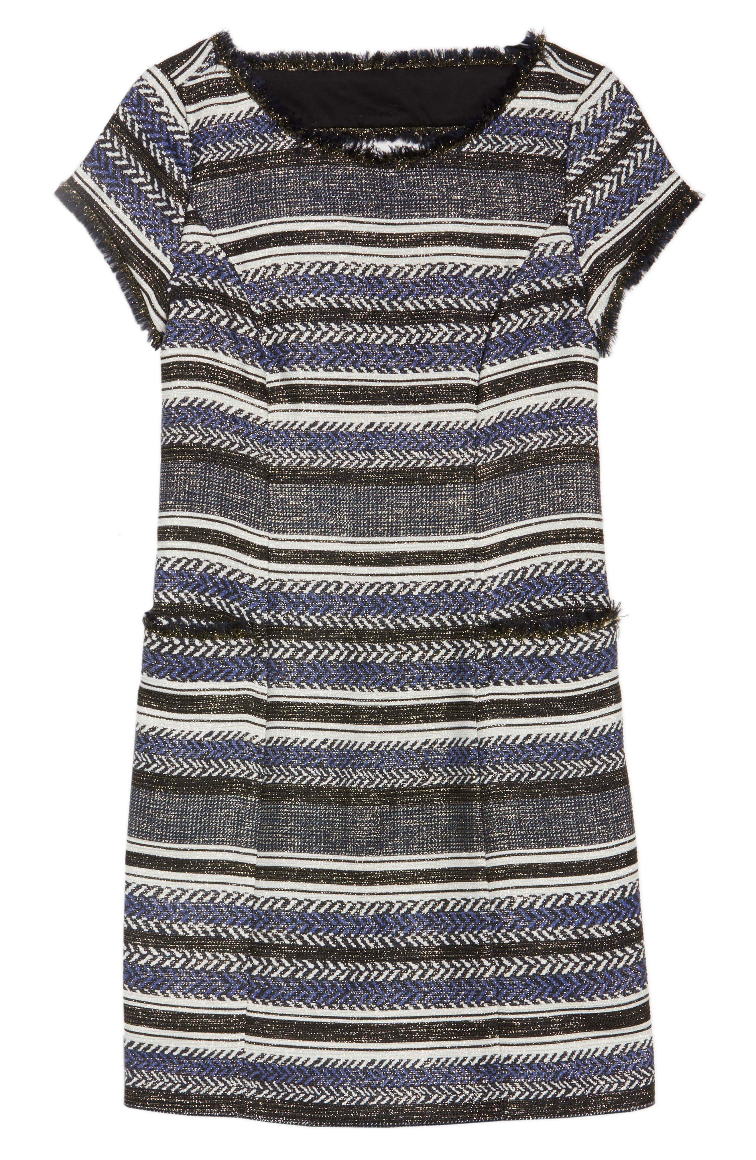Stripe Sheath Dress,                             Alternate thumbnail 6, color,                             400