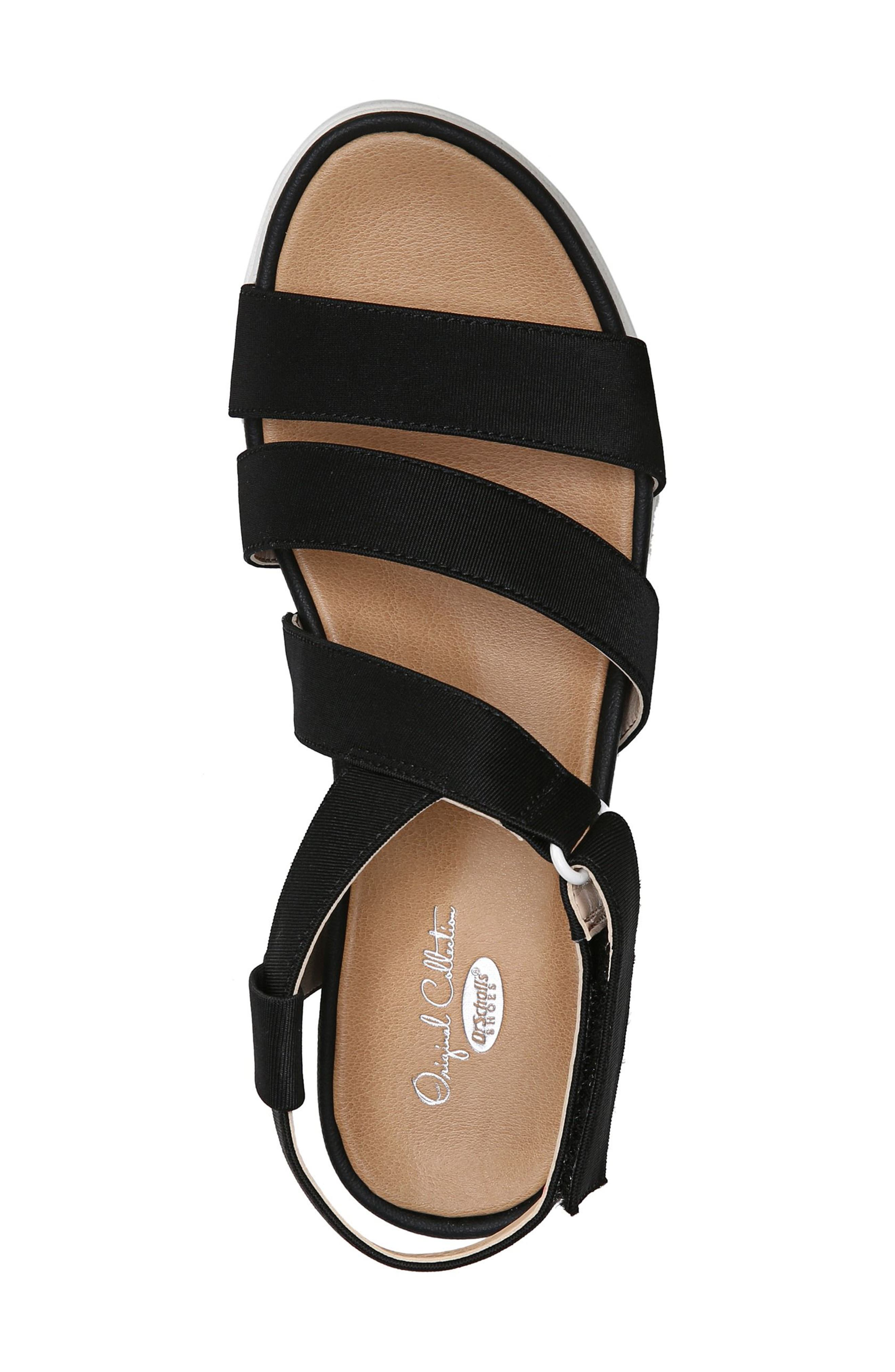 Social Wedge Sandal,                             Alternate thumbnail 5, color,                             BLACK