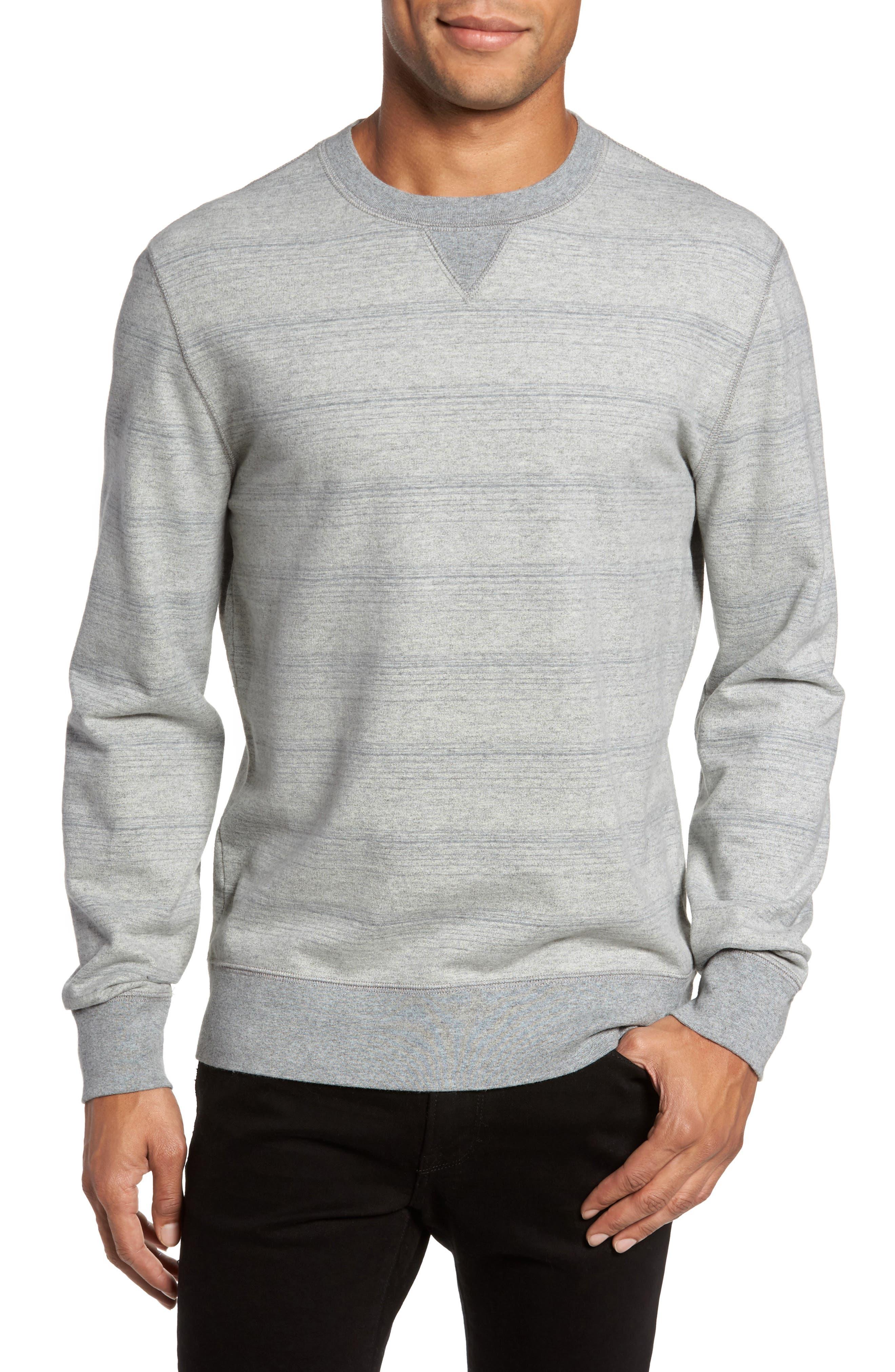 Striped Crewneck Sweater,                             Main thumbnail 1, color,                             035