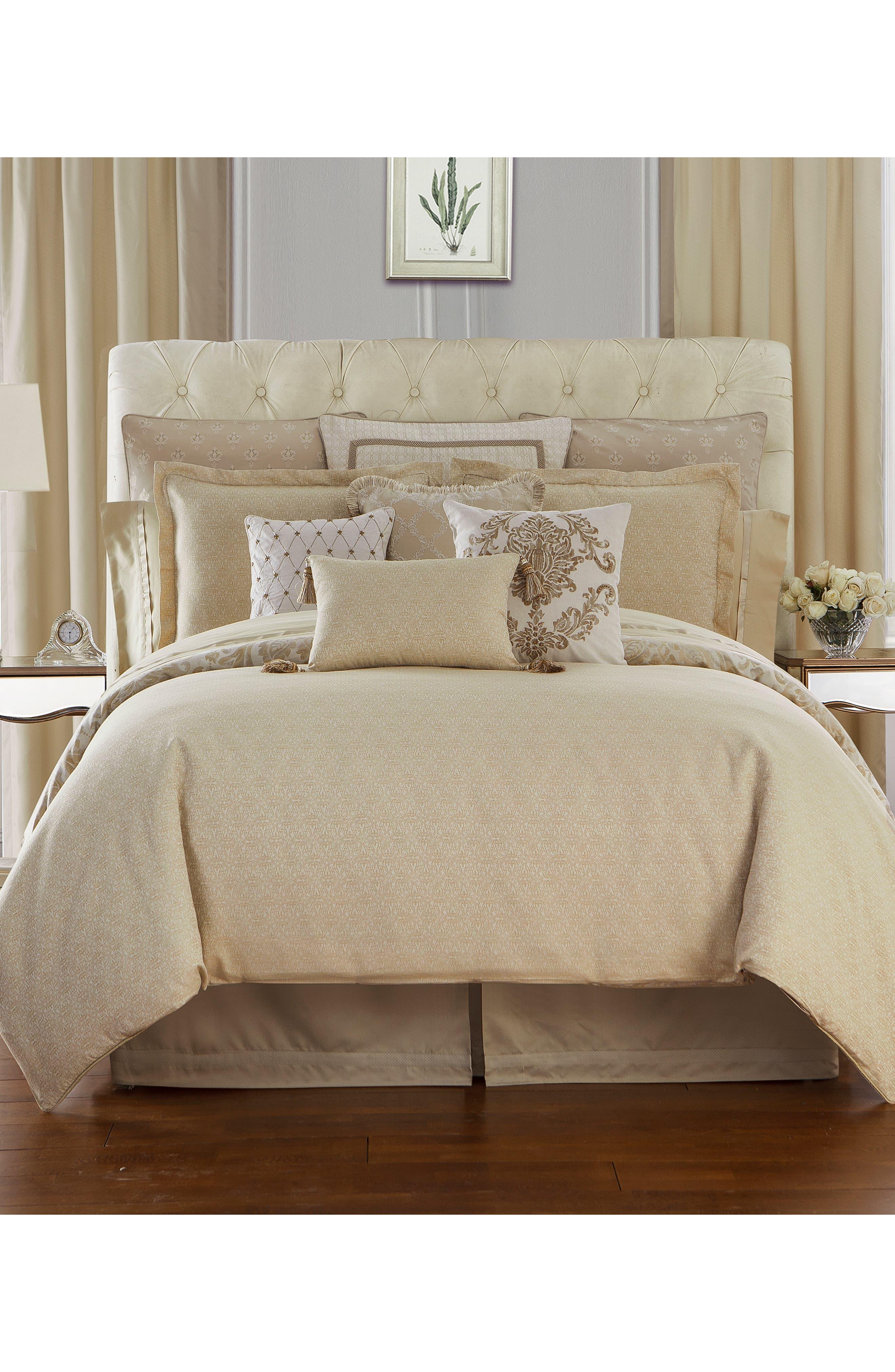 Annalise Reversible Comforter, Sham & Bed Skirt Set,                             Alternate thumbnail 2, color,                             GOLD