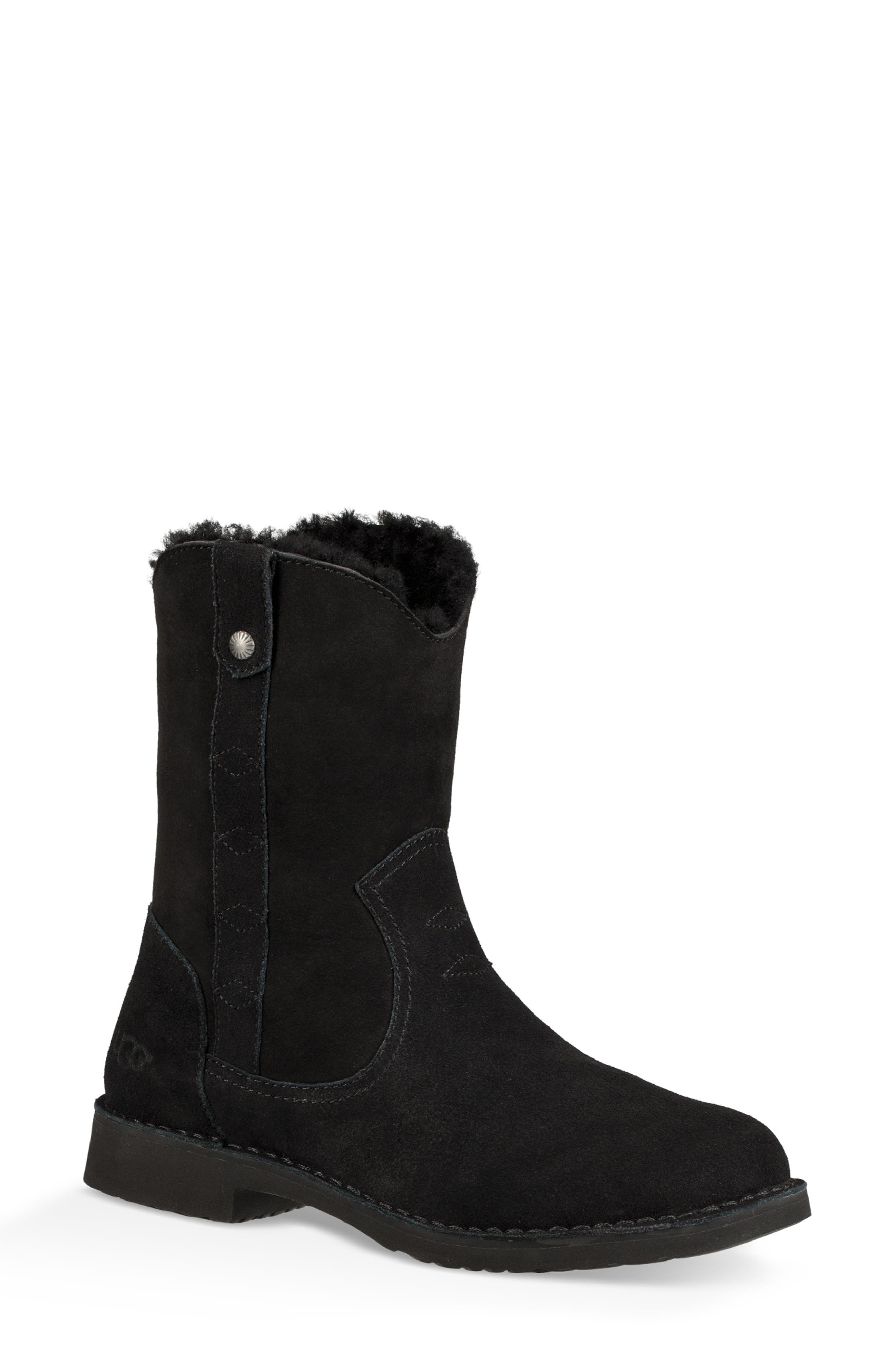 Larker Boot,                             Main thumbnail 1, color,                             BLACK SUEDE