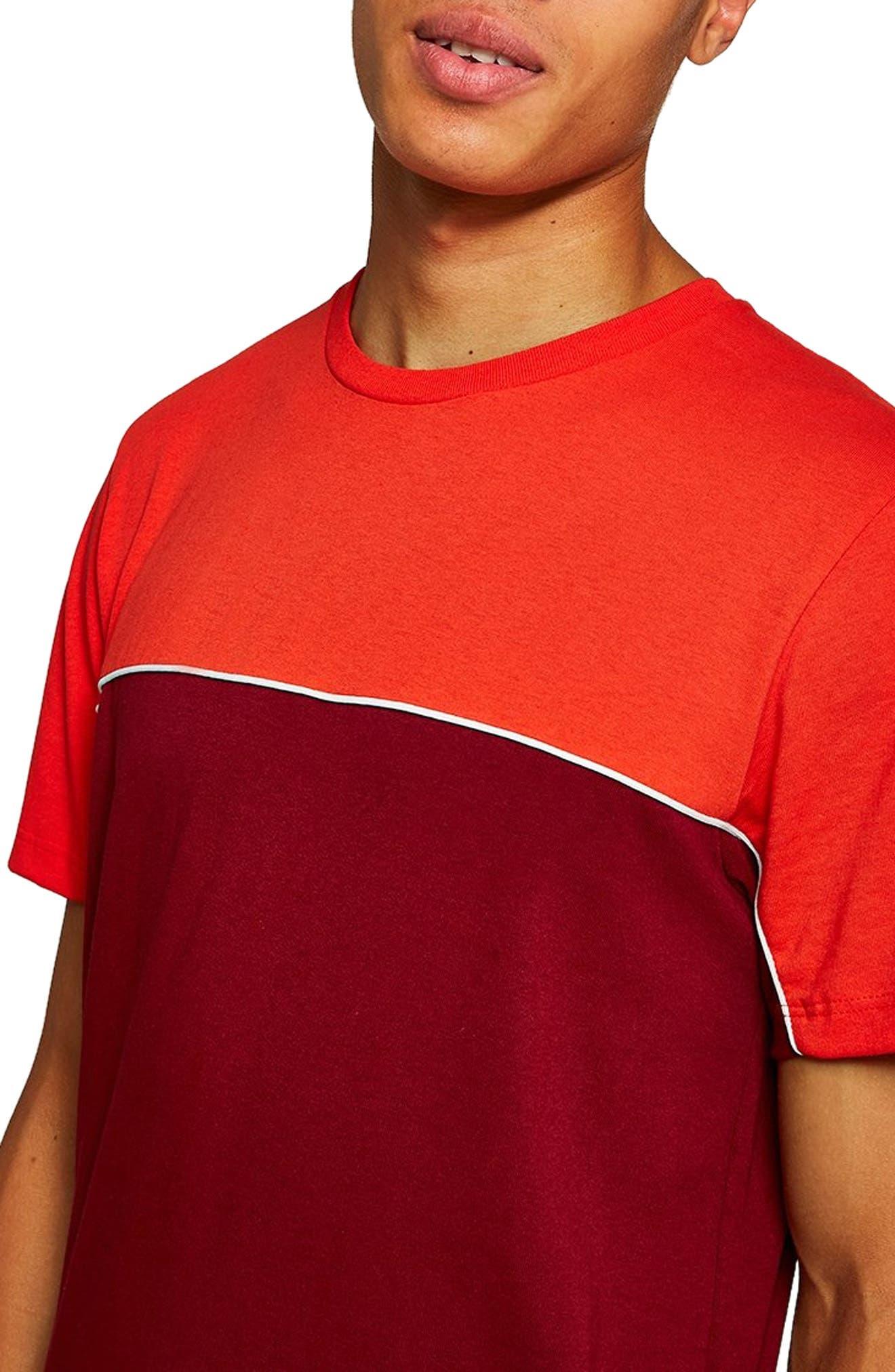 Colorblock T-Shirt,                             Main thumbnail 1, color,                             RED MULTI