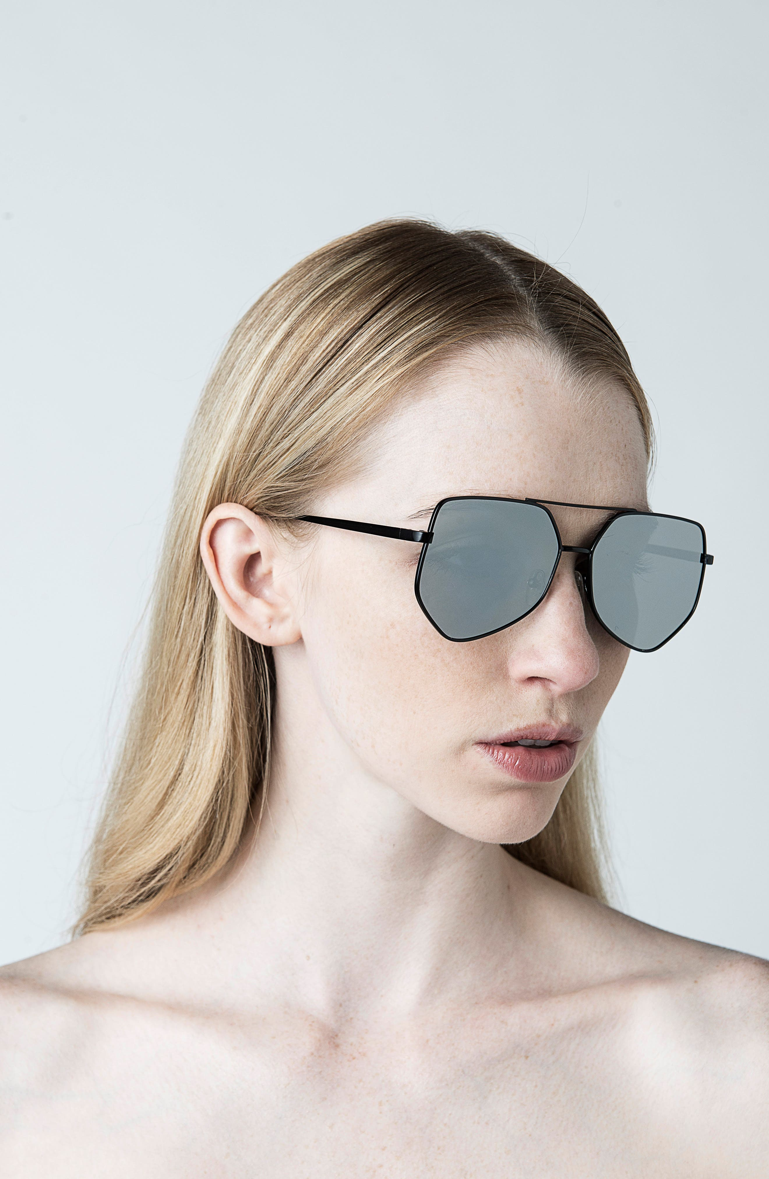 Figueroa 58mm Sunglasses,                             Alternate thumbnail 3, color,                             GRAVITY BLACK