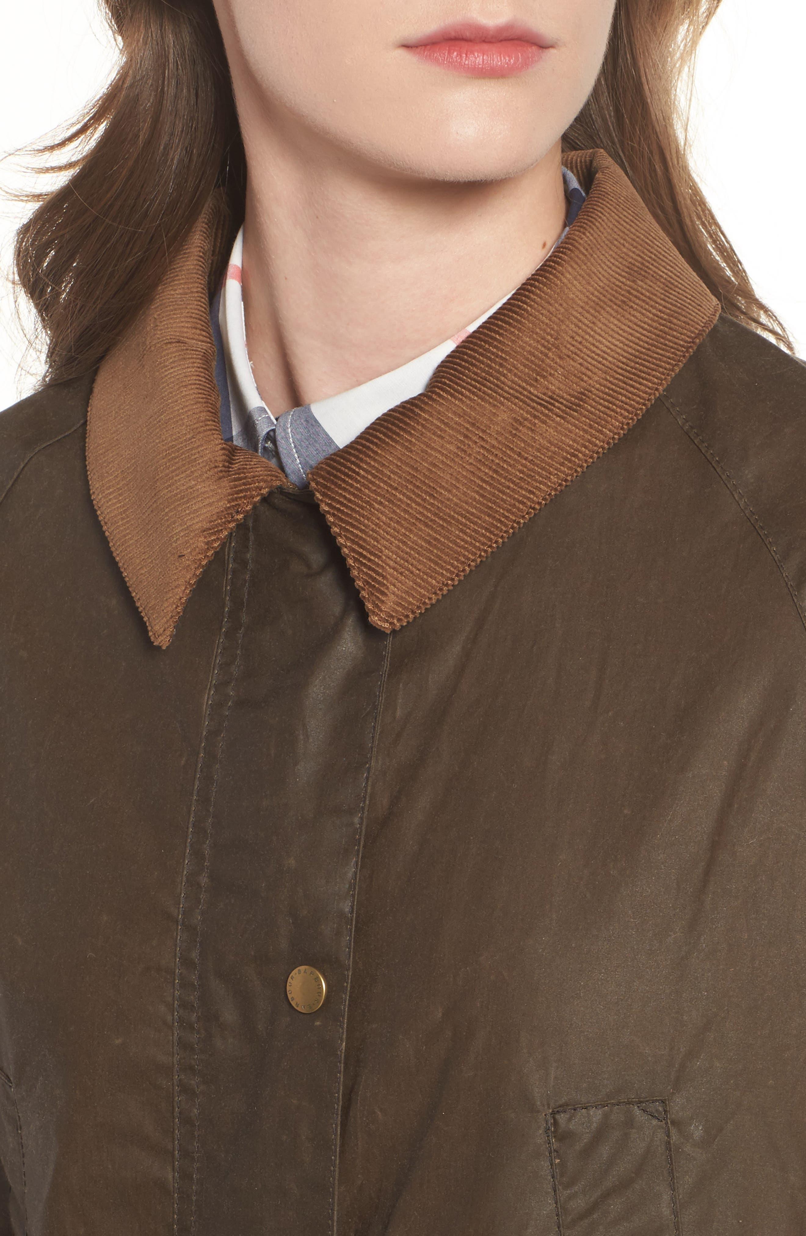 Acorn Water Resistant Waxed Cotton Jacket,                             Alternate thumbnail 4, color,                             230
