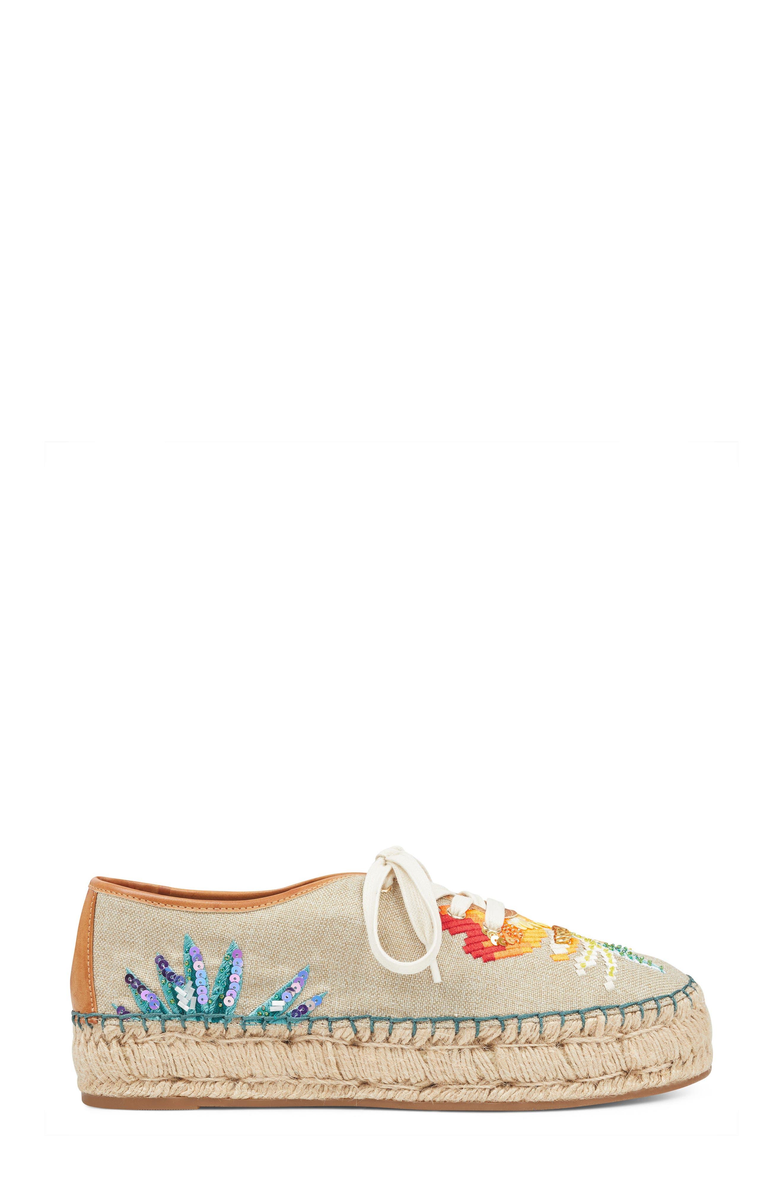 Guinup Embellished Espadrille Sneaker,                             Alternate thumbnail 3, color,                             250
