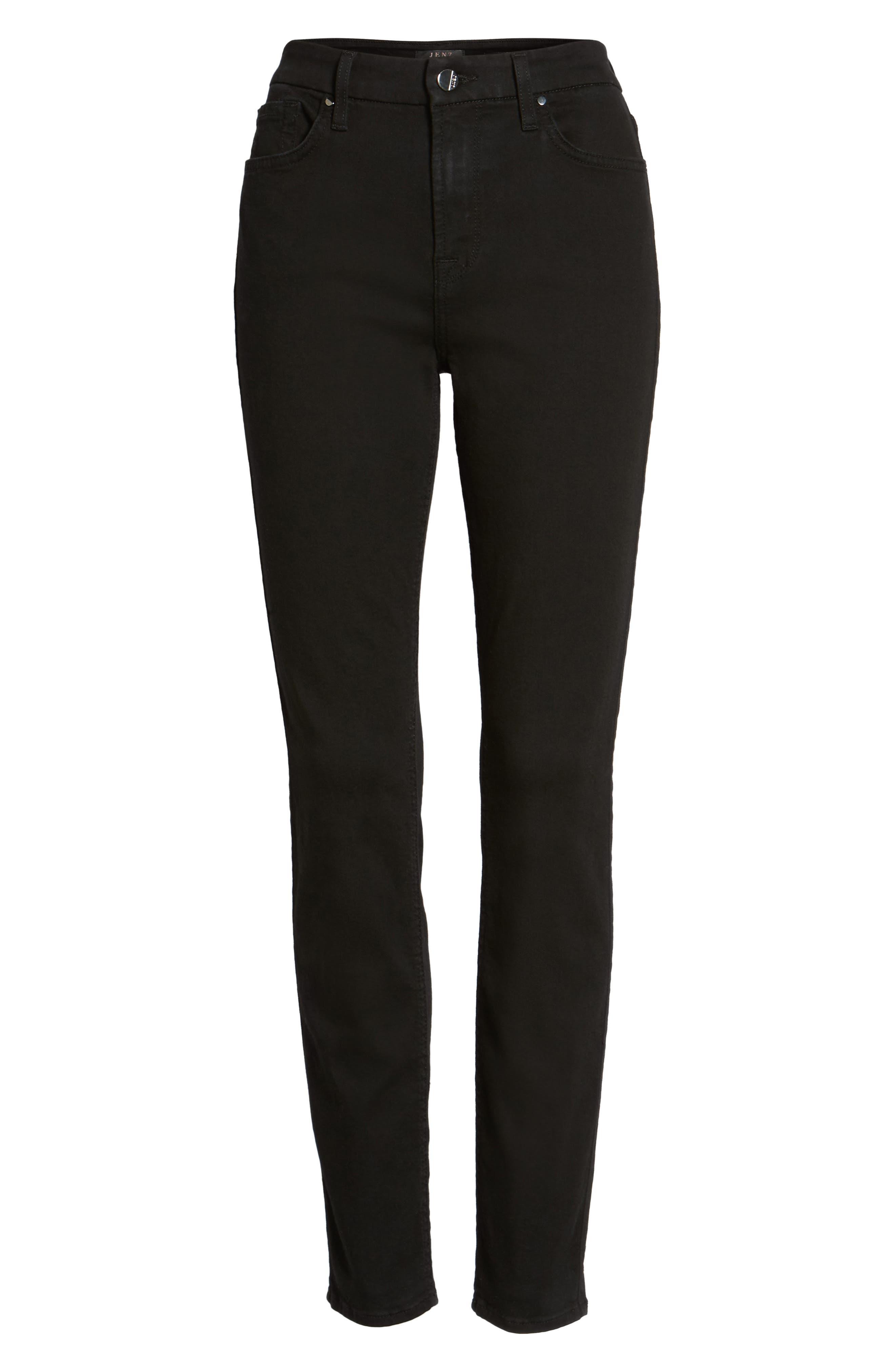 Skinny Jeans,                             Alternate thumbnail 7, color,                             RICHE TOUCH BLACK NOIR