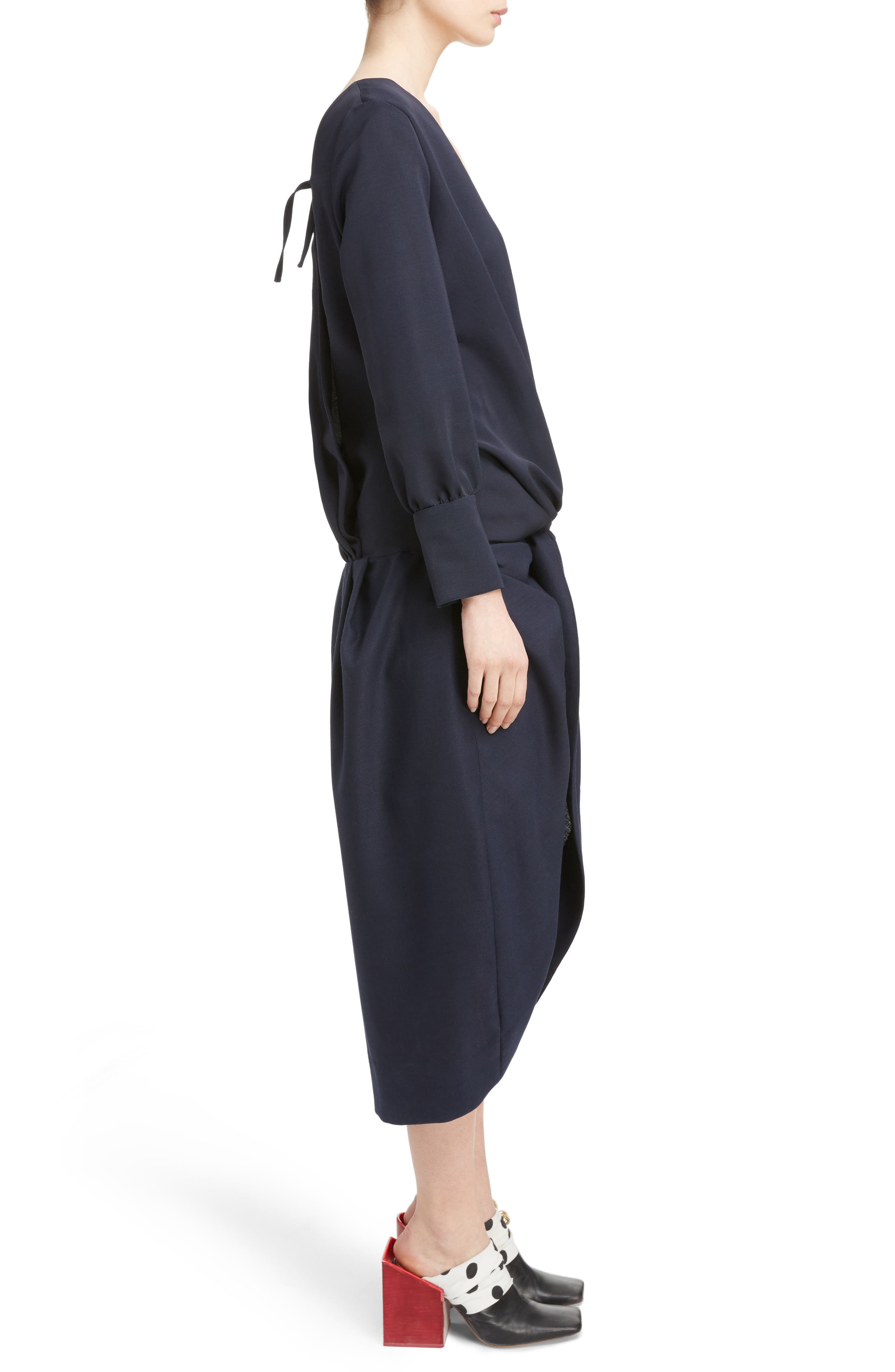 Ruched Long Sleeve Dress,                             Alternate thumbnail 3, color,                             410