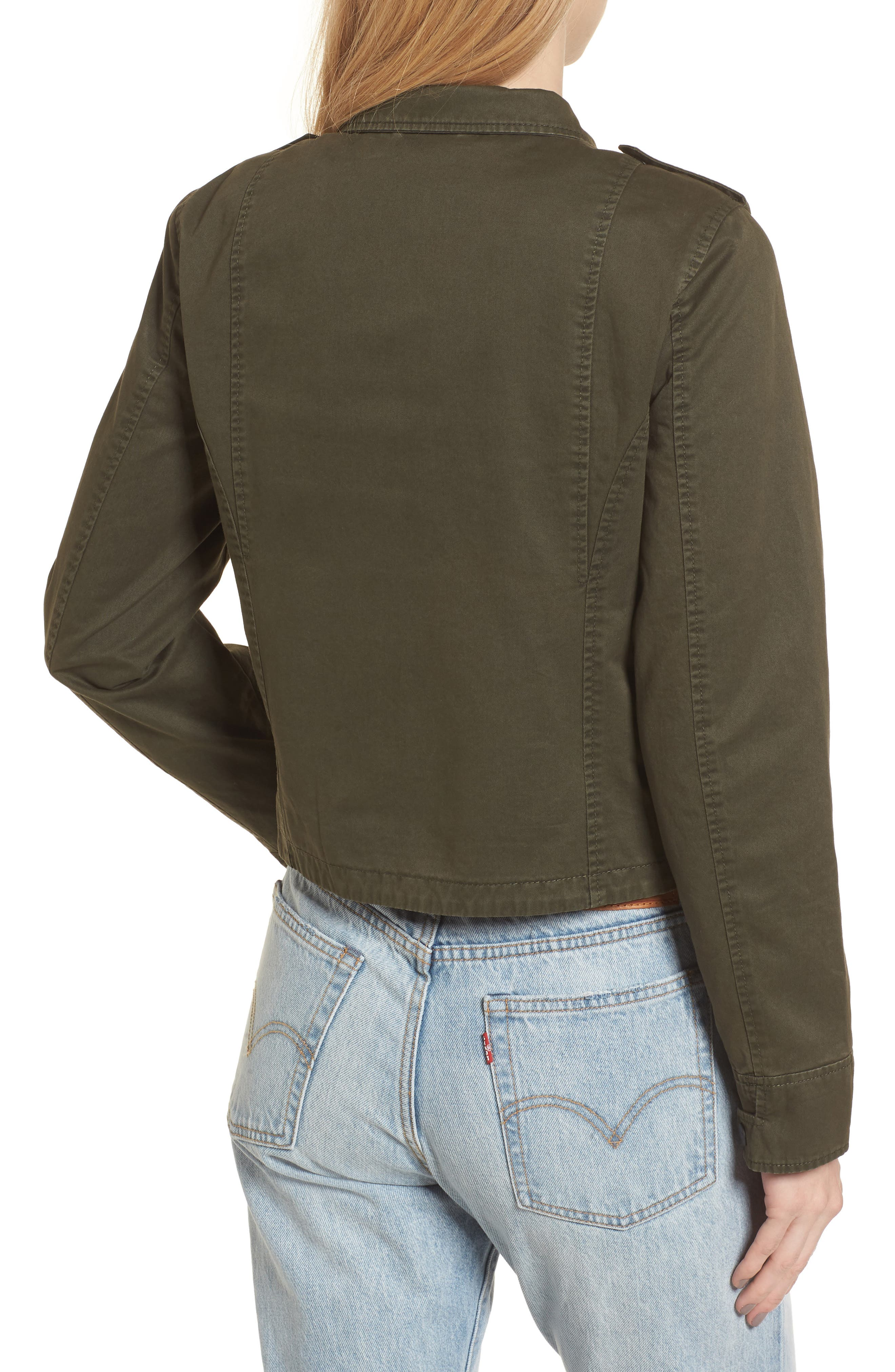 Crop Military Jacket,                             Alternate thumbnail 9, color,