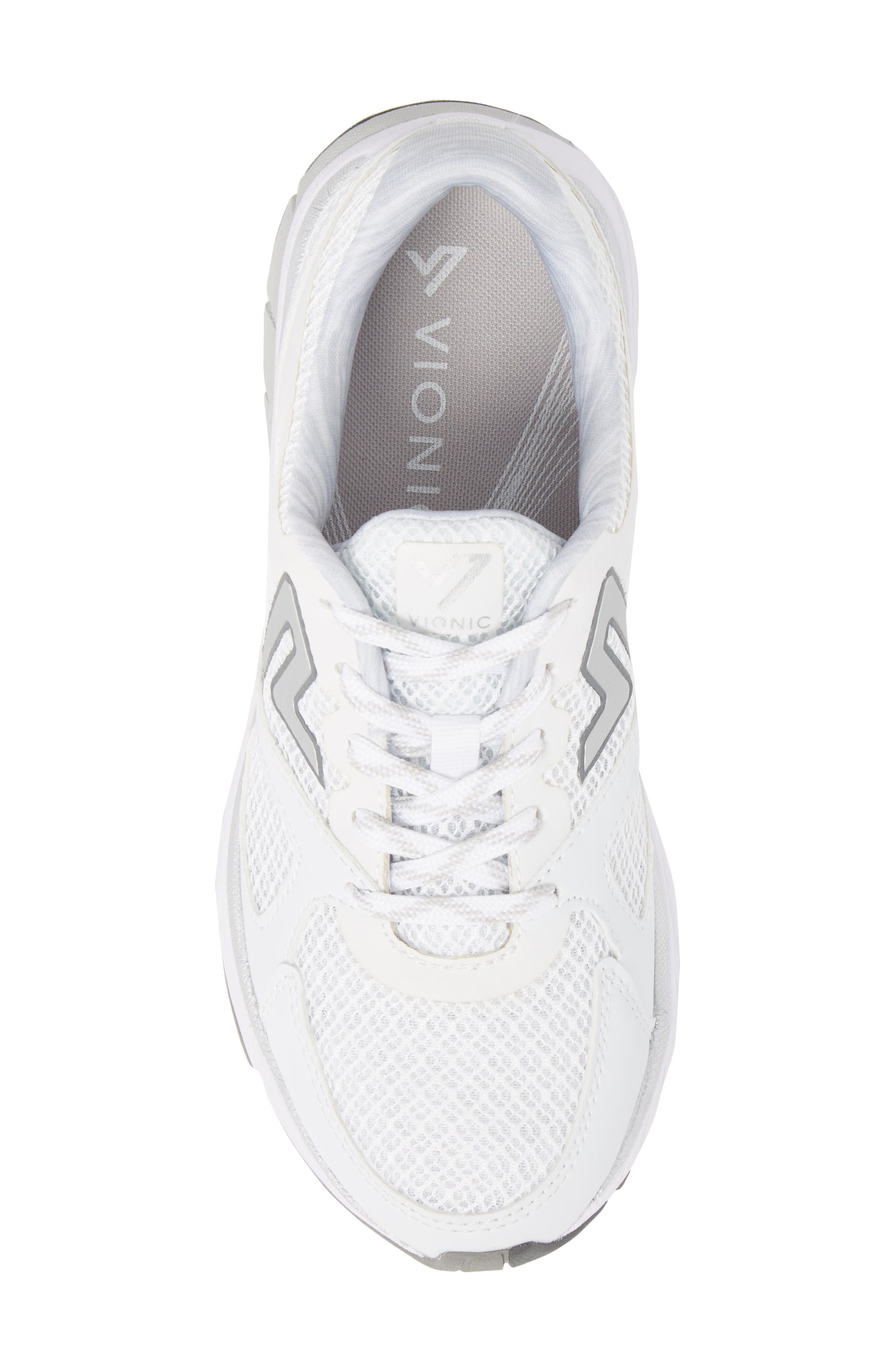 'Satima' Sneaker,                             Alternate thumbnail 5, color,                             WHITE FABRIC
