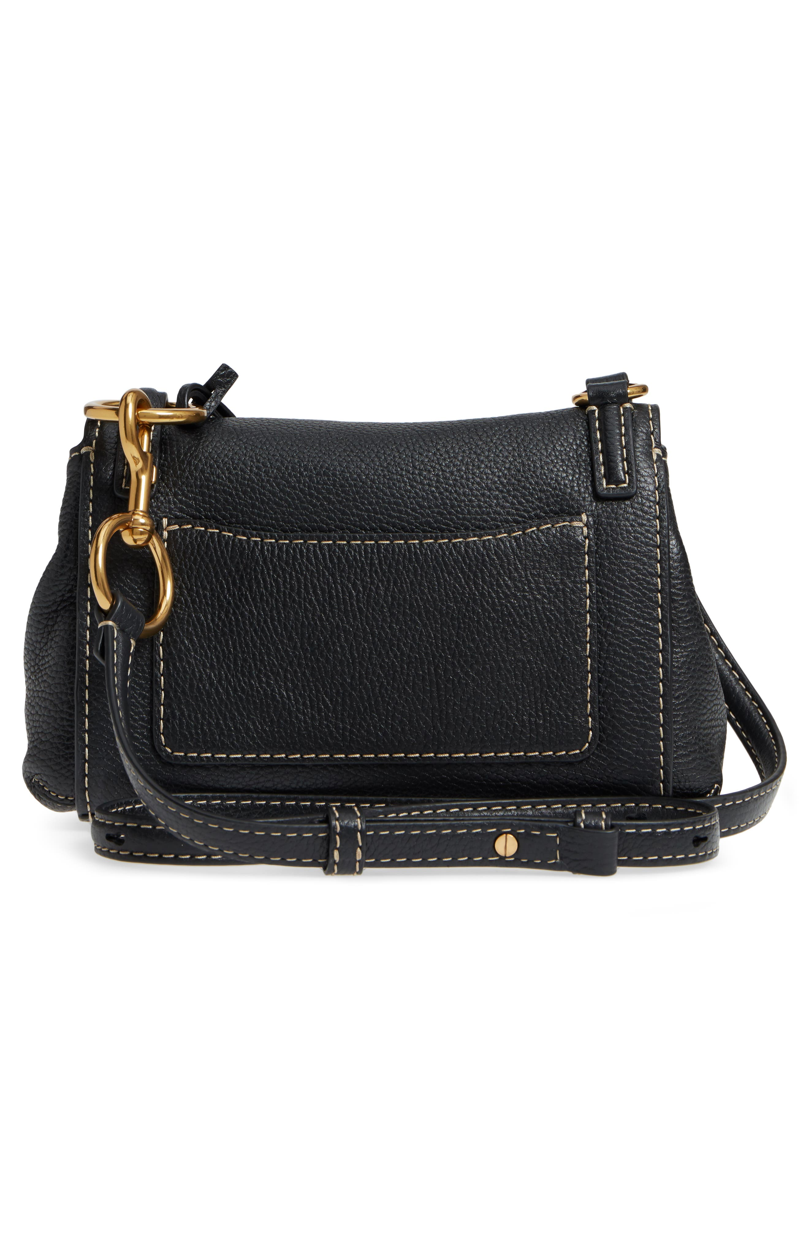 Mini The Boho Grind Leather Shoulder Bag,                             Alternate thumbnail 3, color,                             014