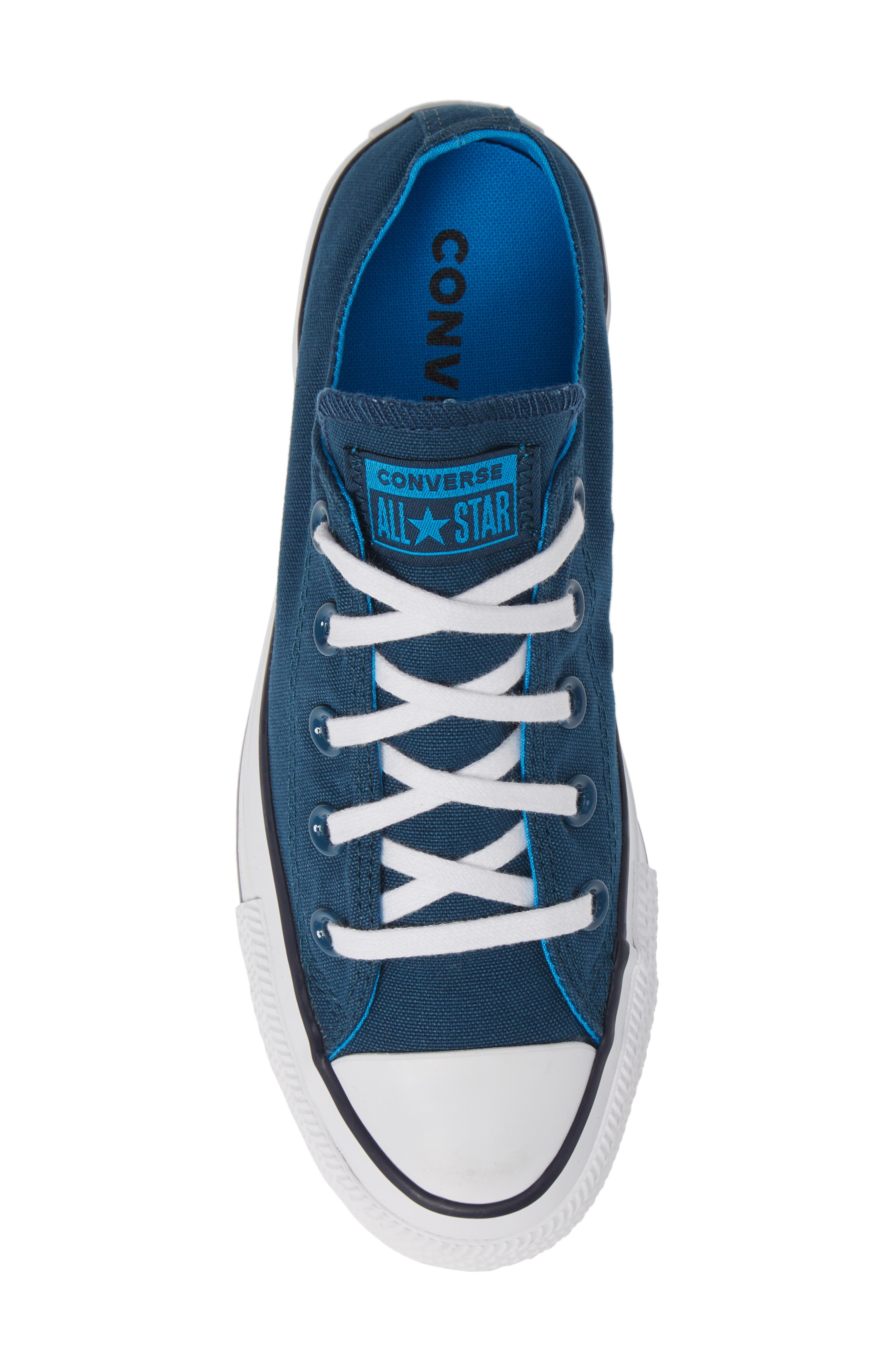 Chuck Taylor<sup>®</sup> All Star<sup>®</sup> Seasonal Ox Low Top Sneaker,                             Alternate thumbnail 5, color,                             BLUE FIR