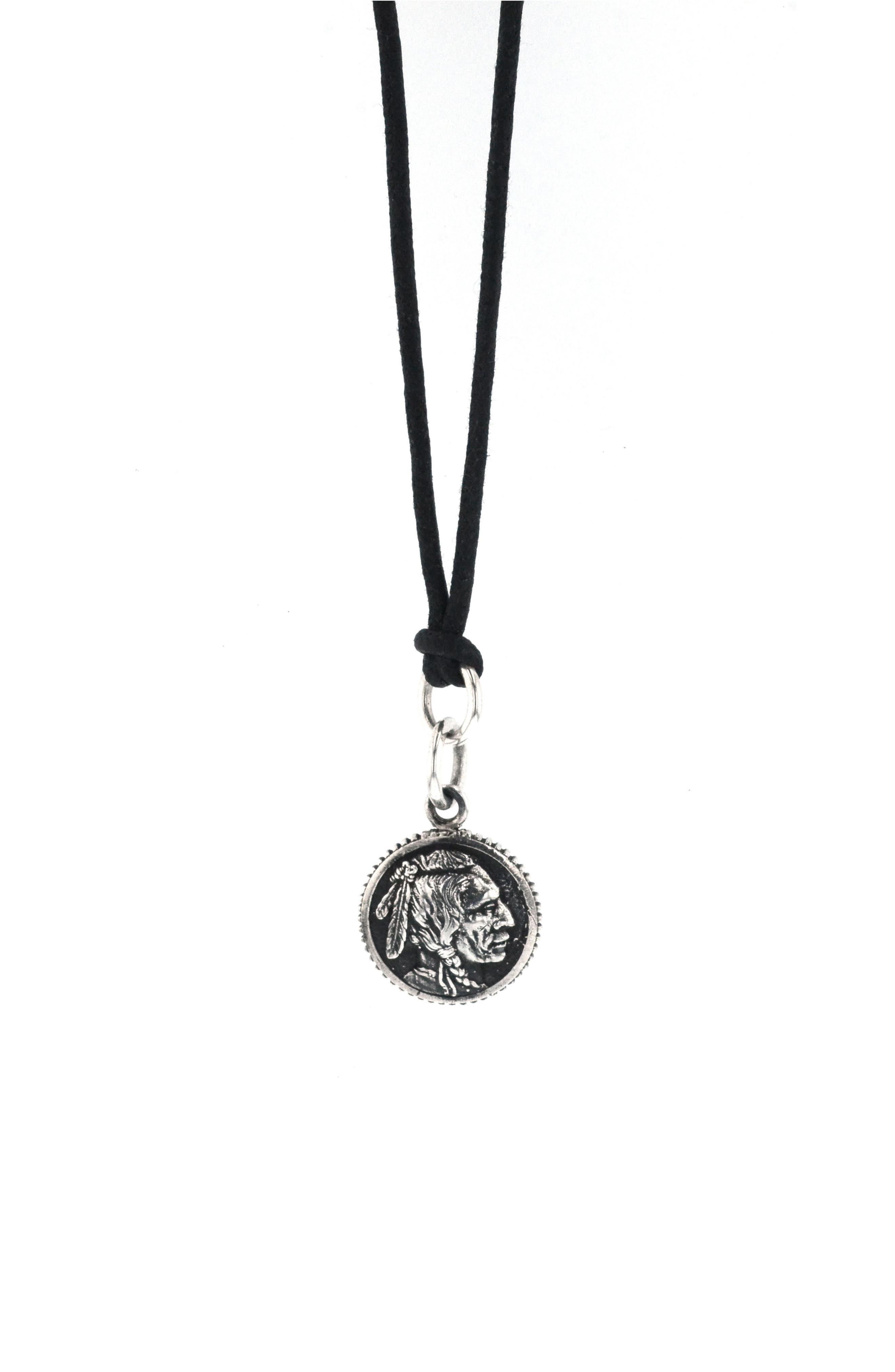Pendant Necklace,                         Main,                         color, SILVER