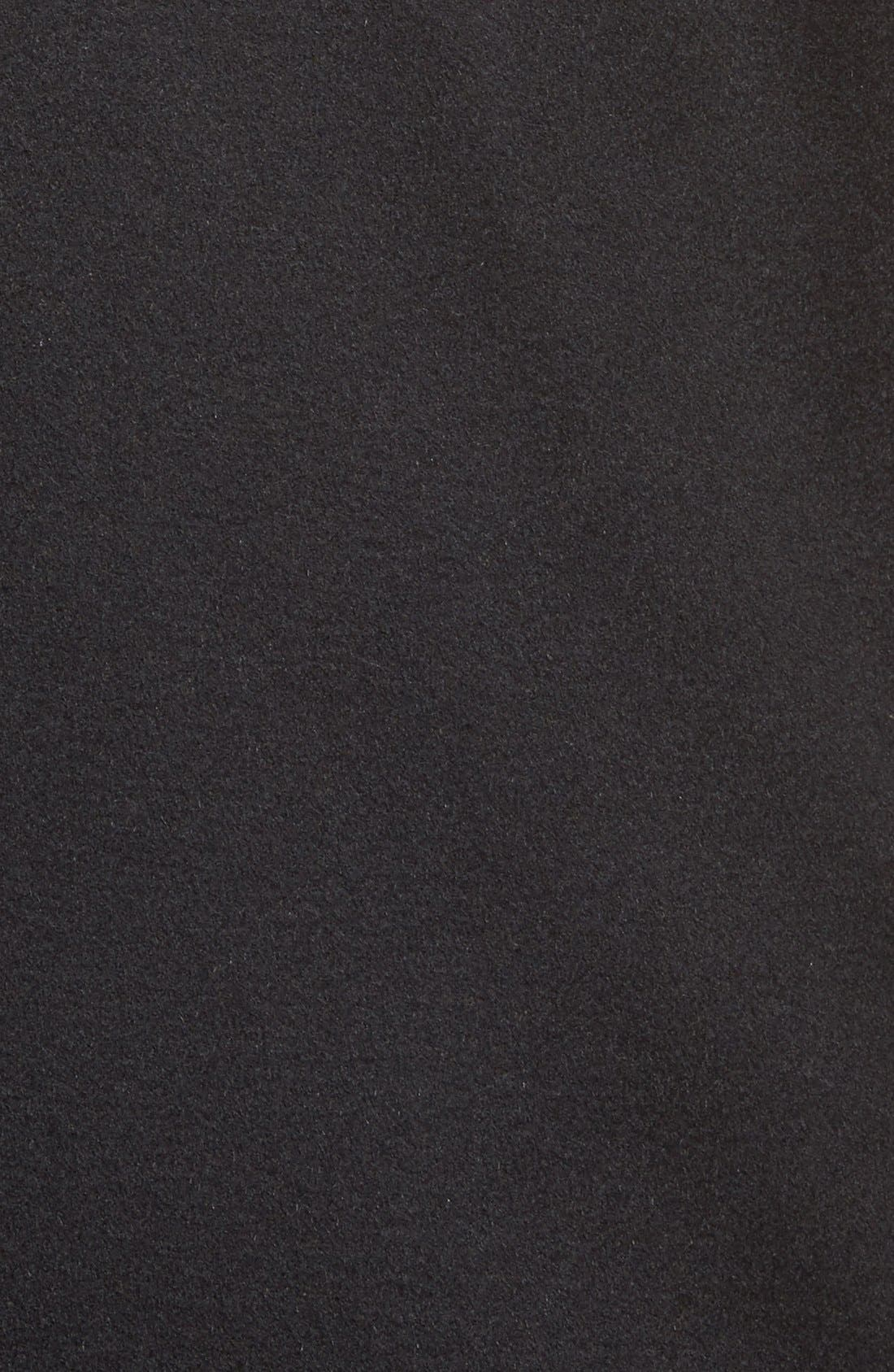 Sheffield Classic Fit Wool & Cashmere Overcoat,                             Alternate thumbnail 6, color,                             BLACK