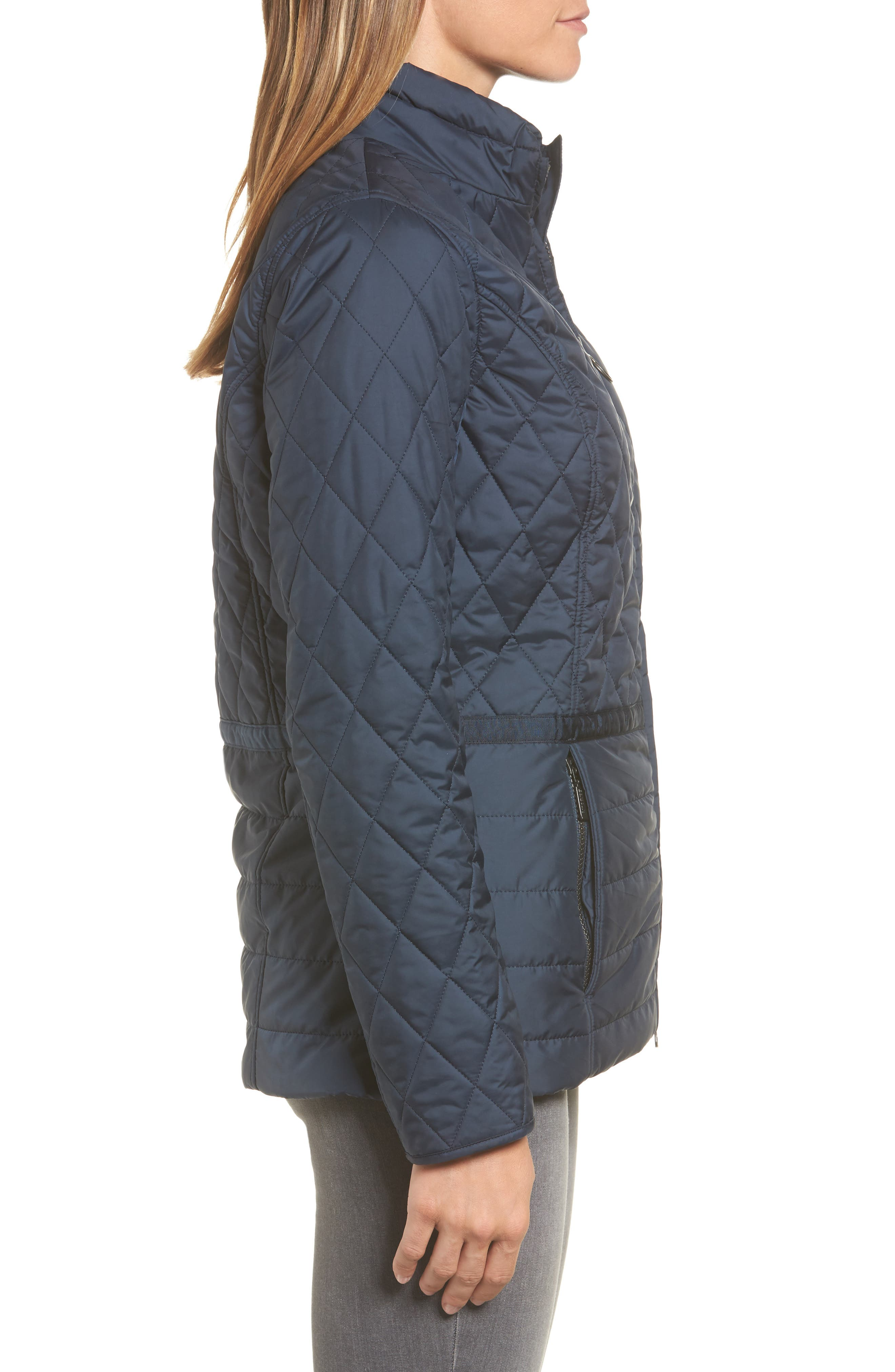 Water Resistant Quilted Jacket,                             Alternate thumbnail 6, color,