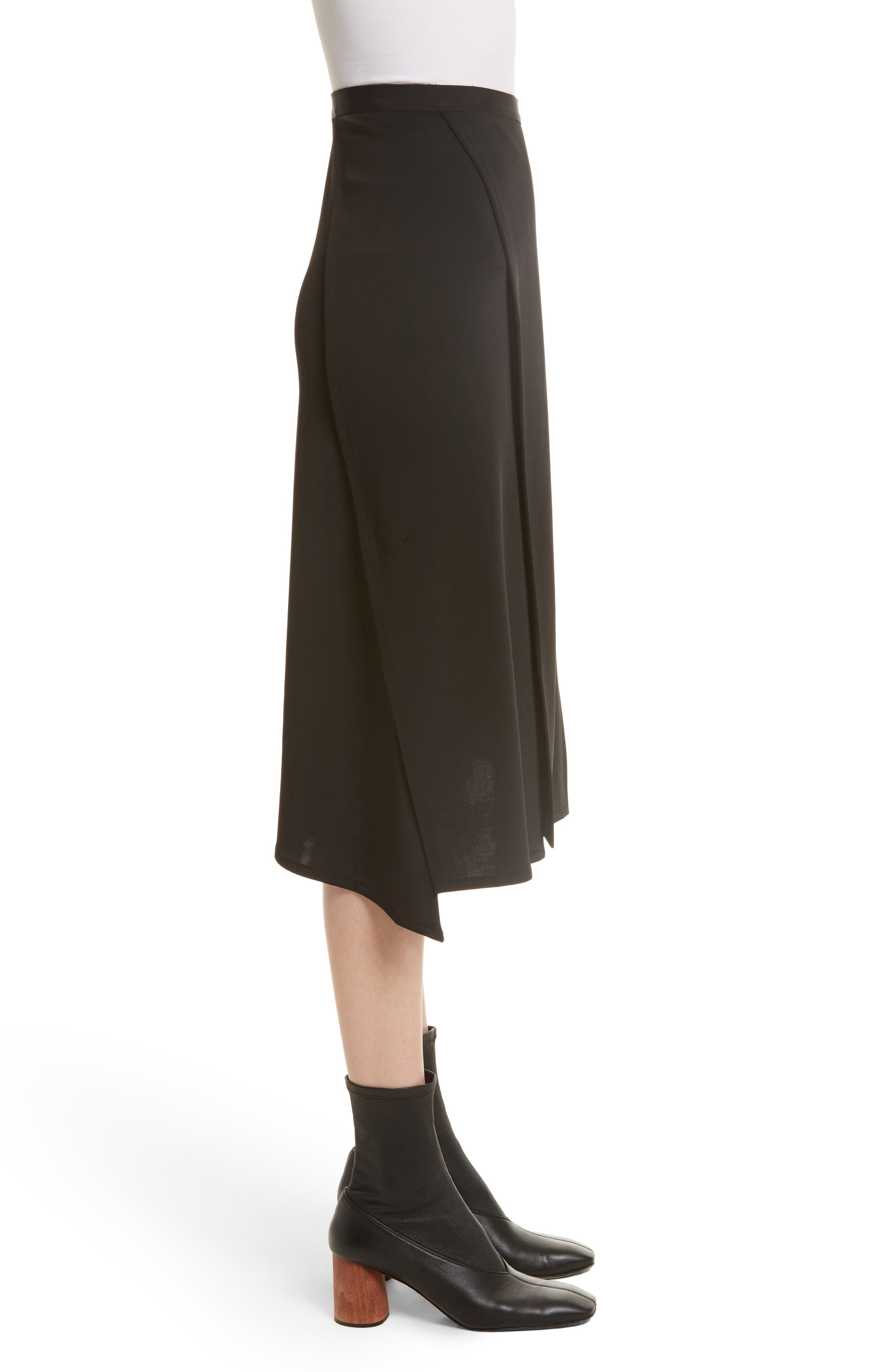 Bondage Jersey Asymmetrical Skirt,                             Alternate thumbnail 3, color,                             001