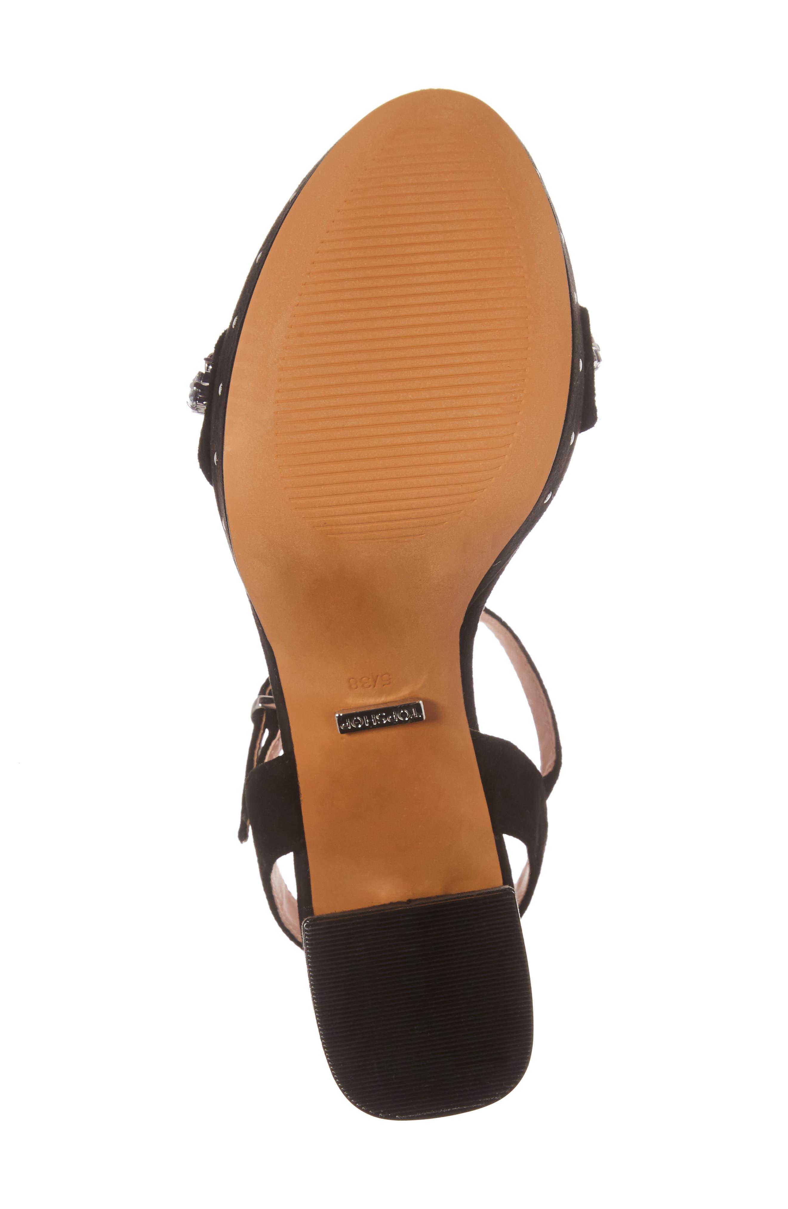 Lovely Embellished Platform Sandal,                             Alternate thumbnail 6, color,                             001