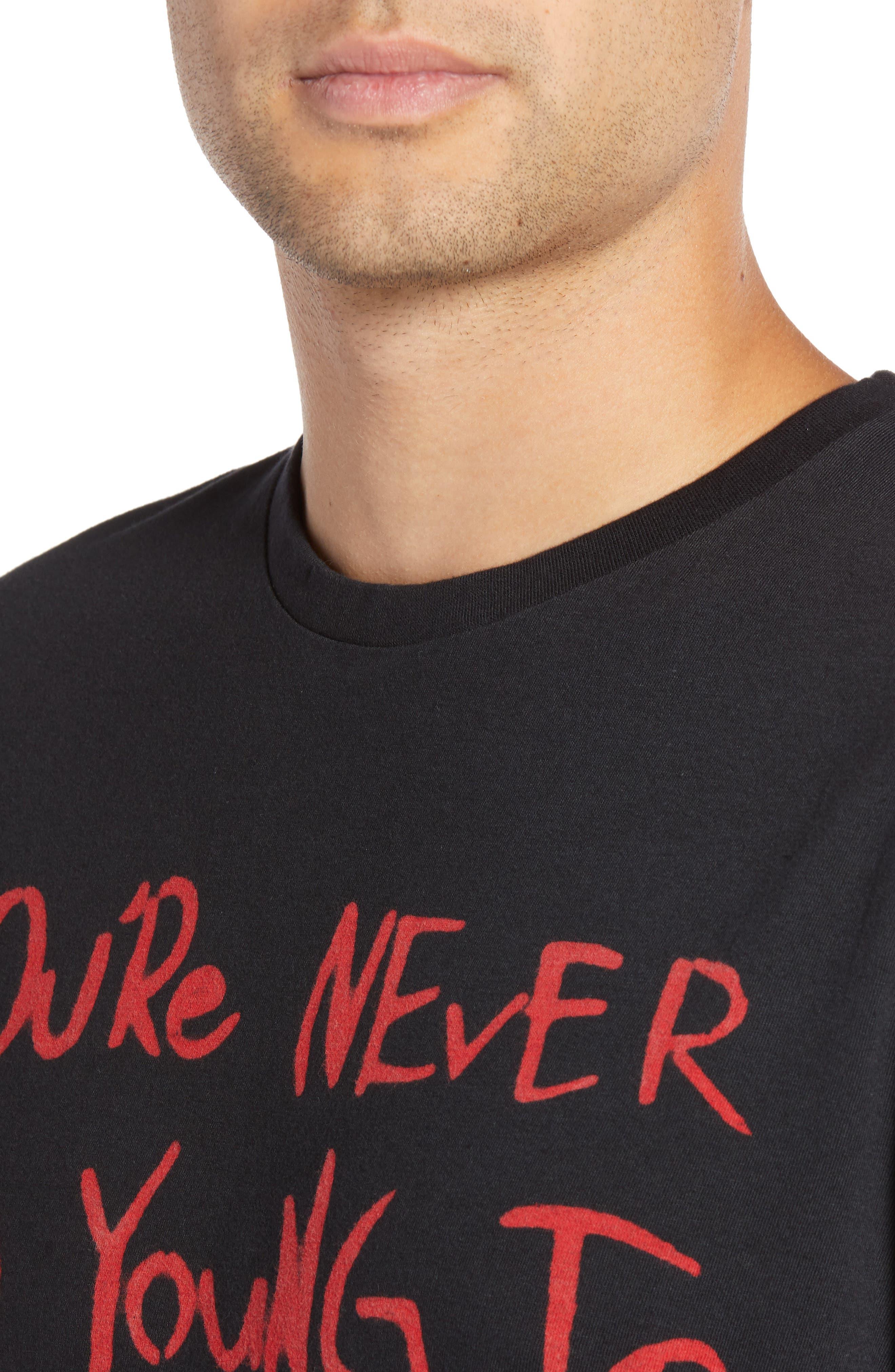 Dream Big Graphic T-Shirt,                             Alternate thumbnail 4, color,                             BLACK