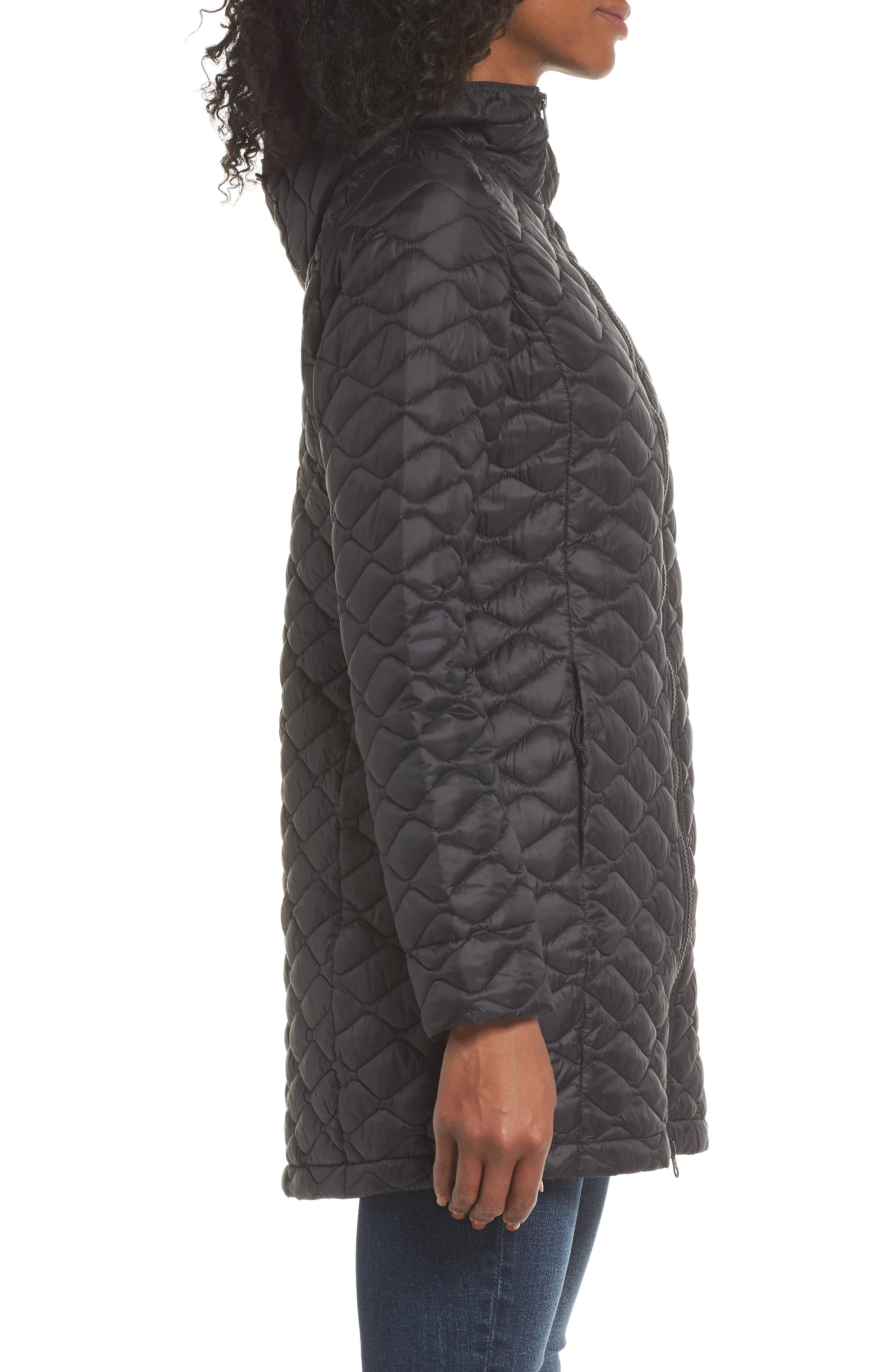 ThermoBall<sup>™</sup> Insulated Hooded Parka II,                             Alternate thumbnail 3, color,                             TNF BLACK