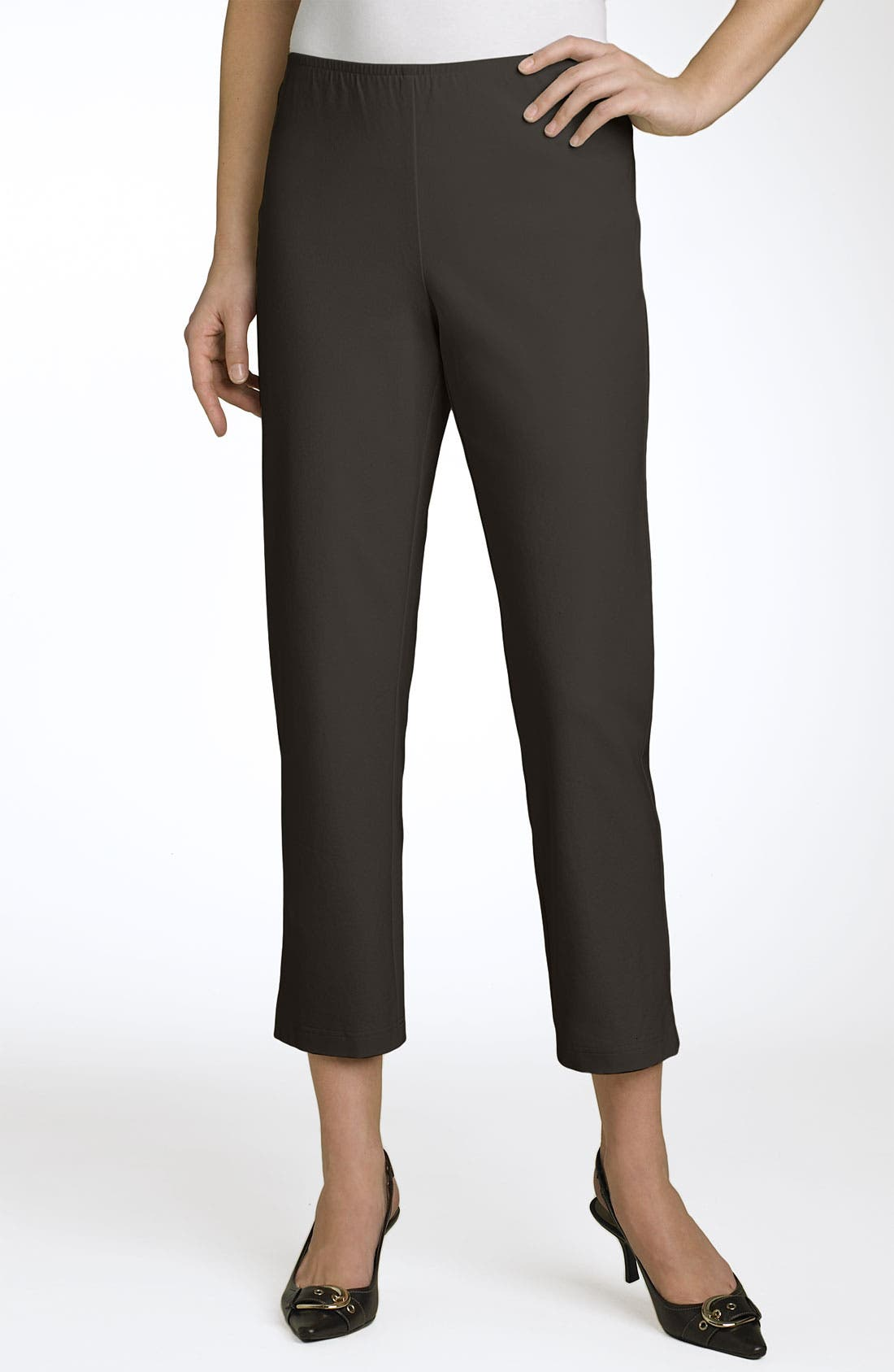 Organic Stretch Cotton Twill Ankle Pants,                             Main thumbnail 9, color,