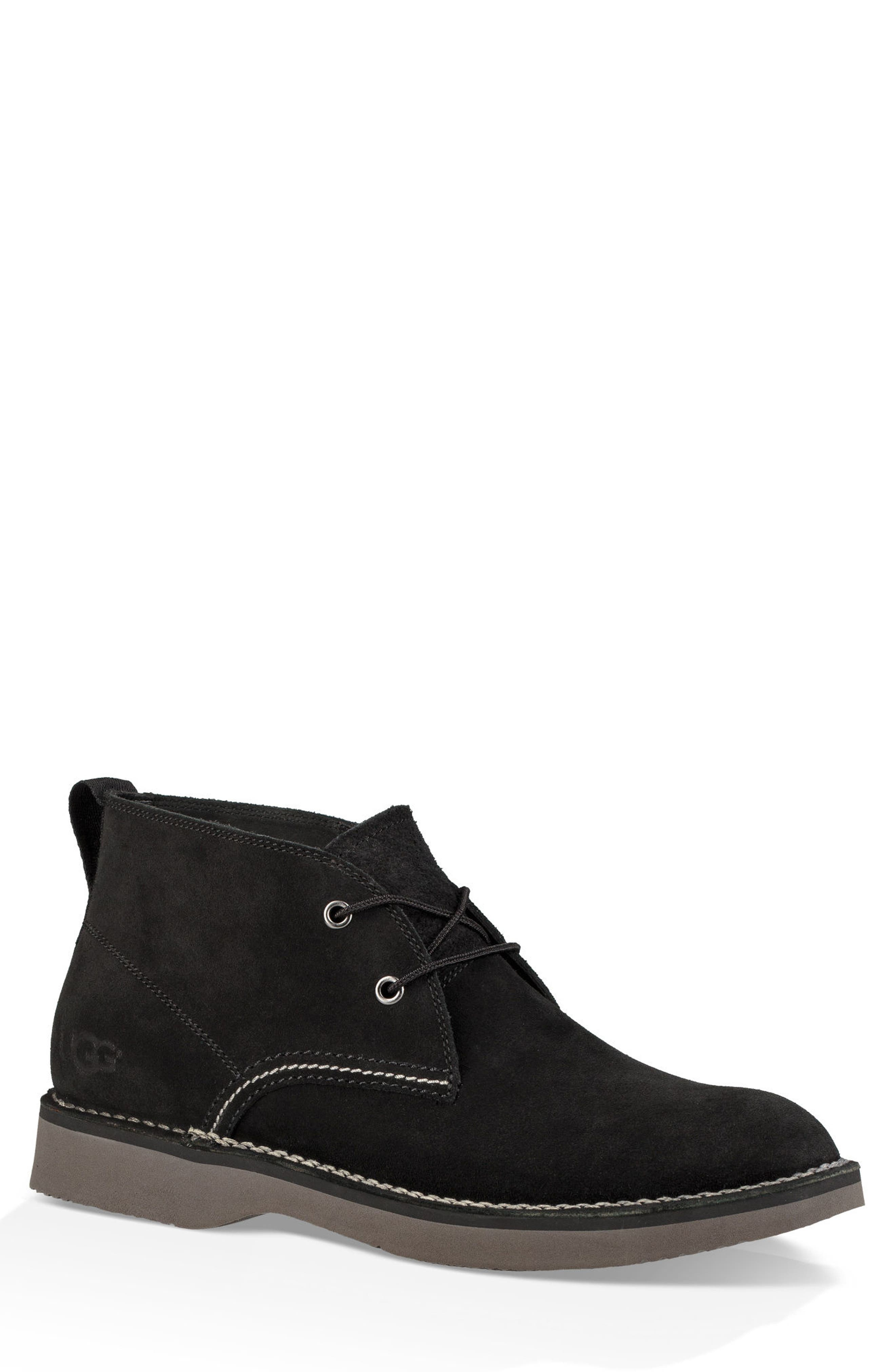 Camino Water Resistant Chukka Boot,                             Main thumbnail 1, color,                             BLACK