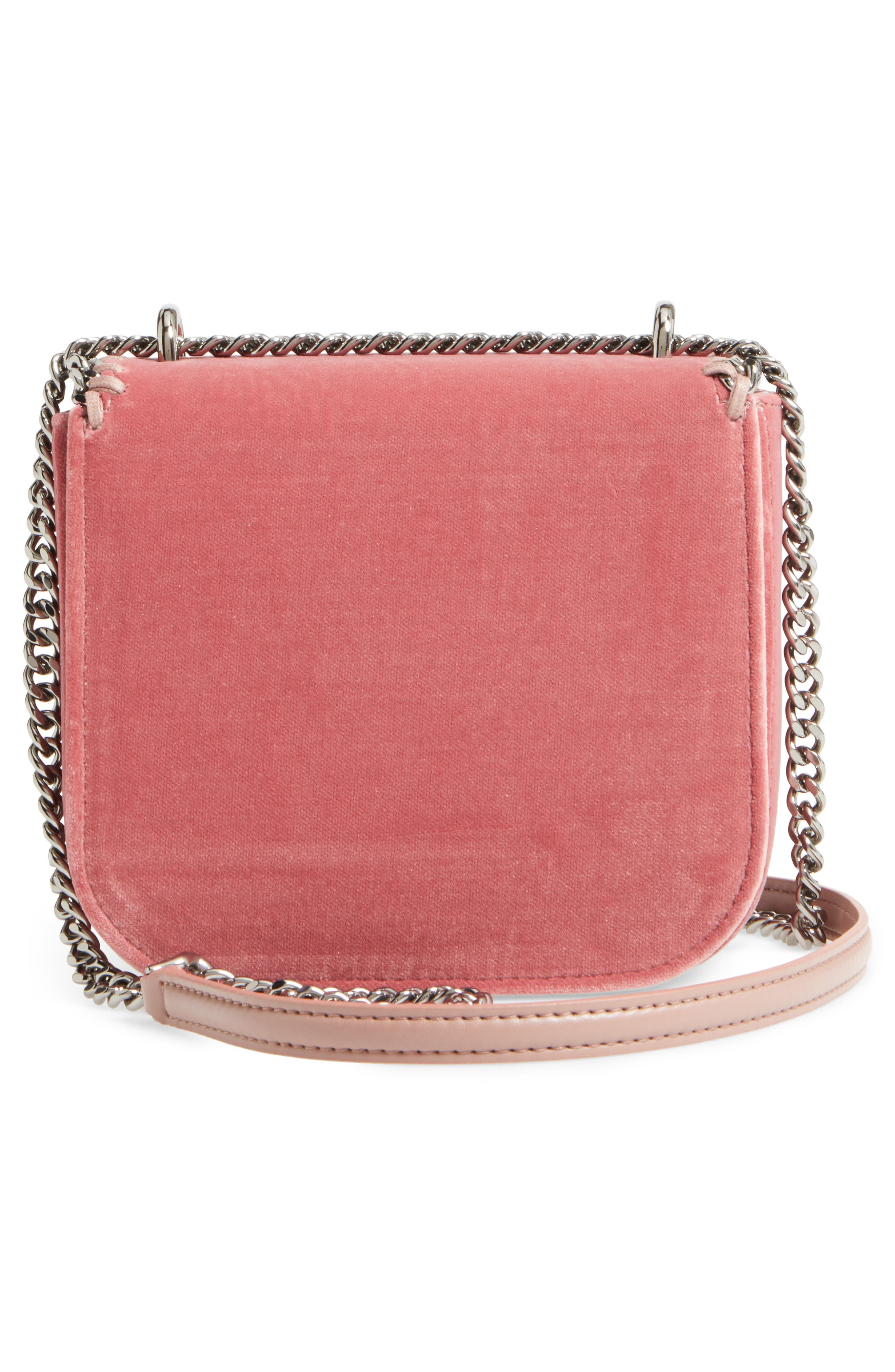 Mini Falabella Box Velvet Shoulder Bag,                             Alternate thumbnail 3, color,                             640