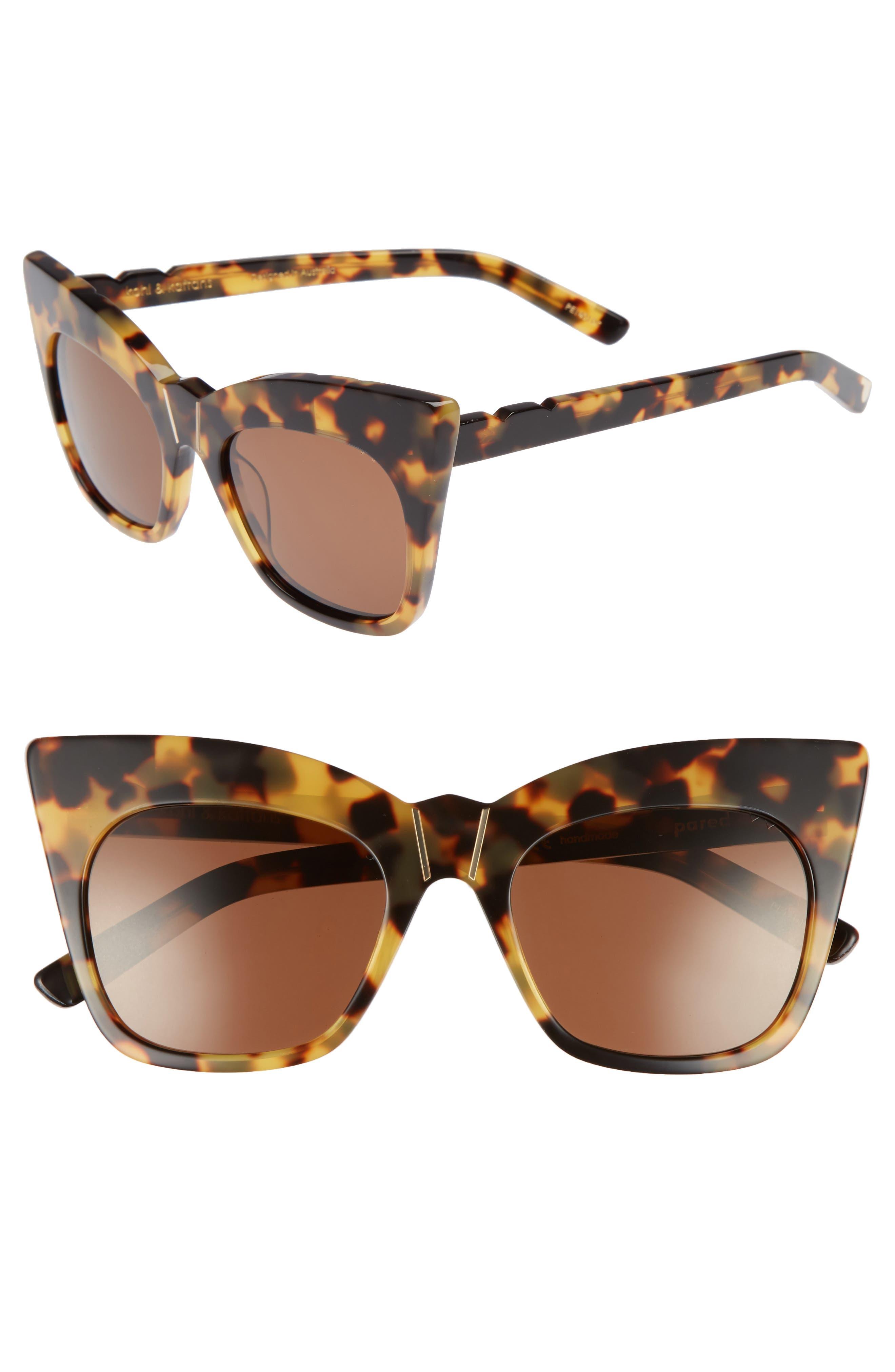 Kohl & Kaftans 52mm Cat Eye Sunglasses,                         Main,                         color, 203