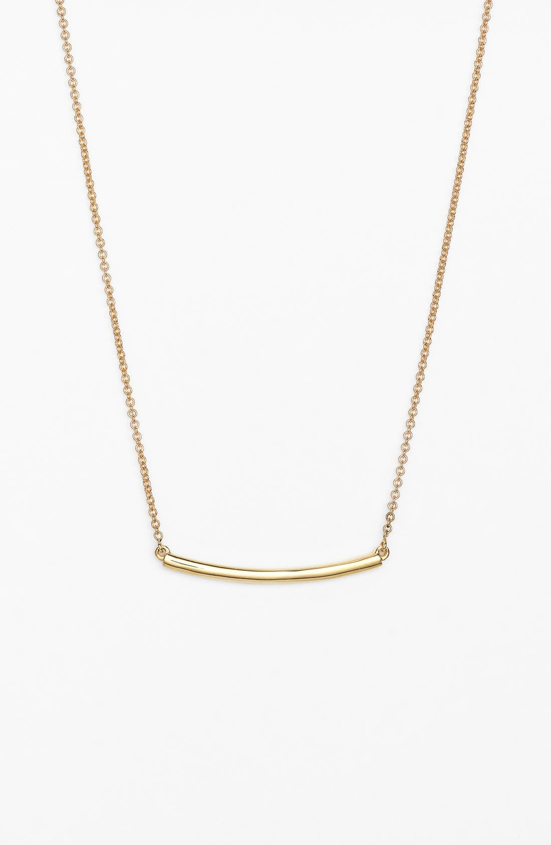 Bar Pendant Necklace,                             Main thumbnail 1, color,                             YELLOW GOLD