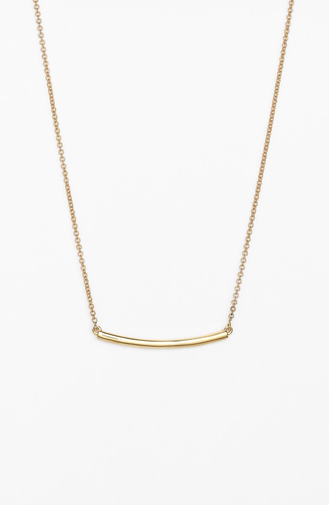 Bar Pendant Necklace,                             Main thumbnail 1, color,                             YELLOW GOLD
