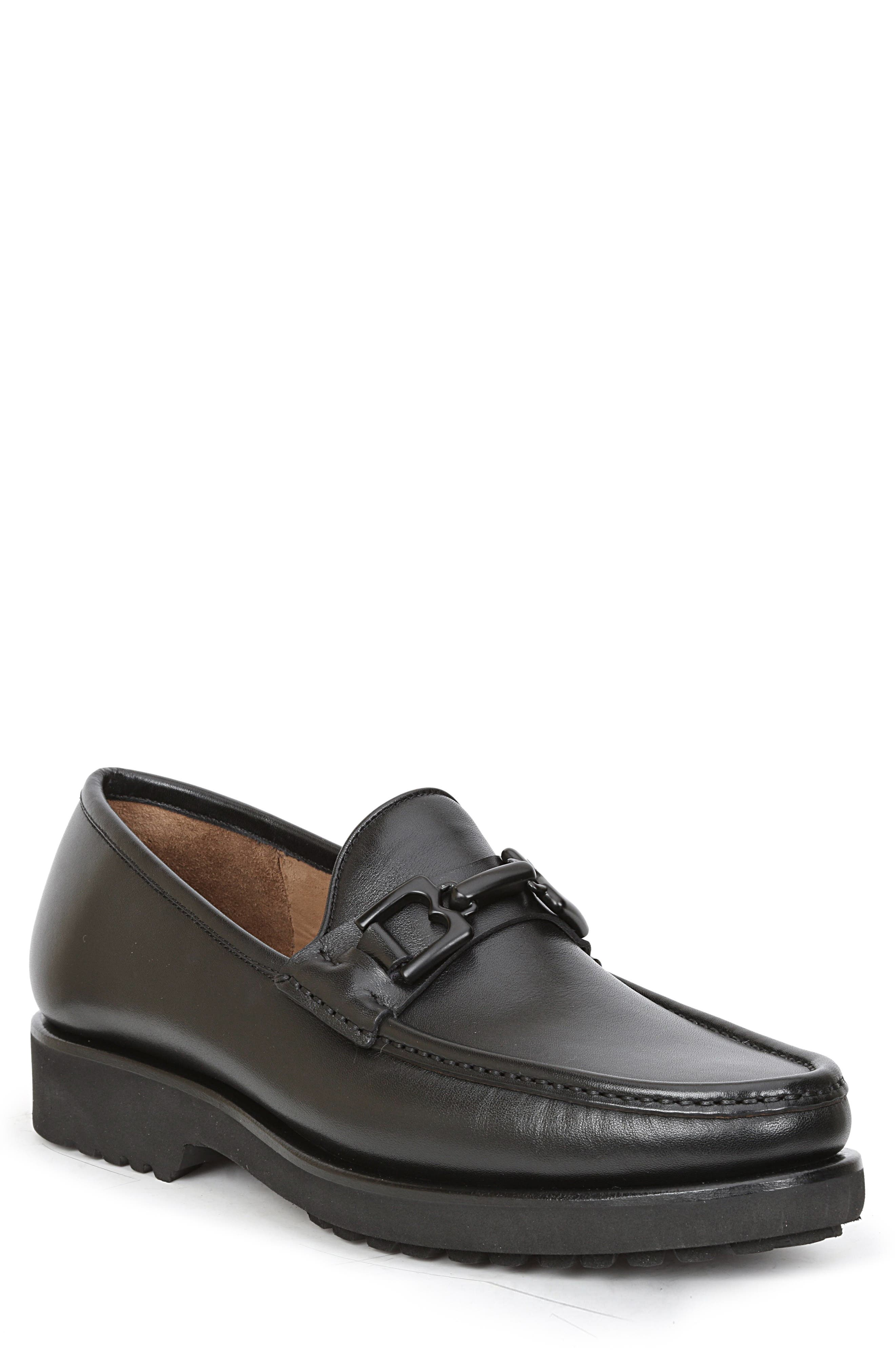 Falcone Lugged Bit Loafer,                         Main,                         color, BLACK