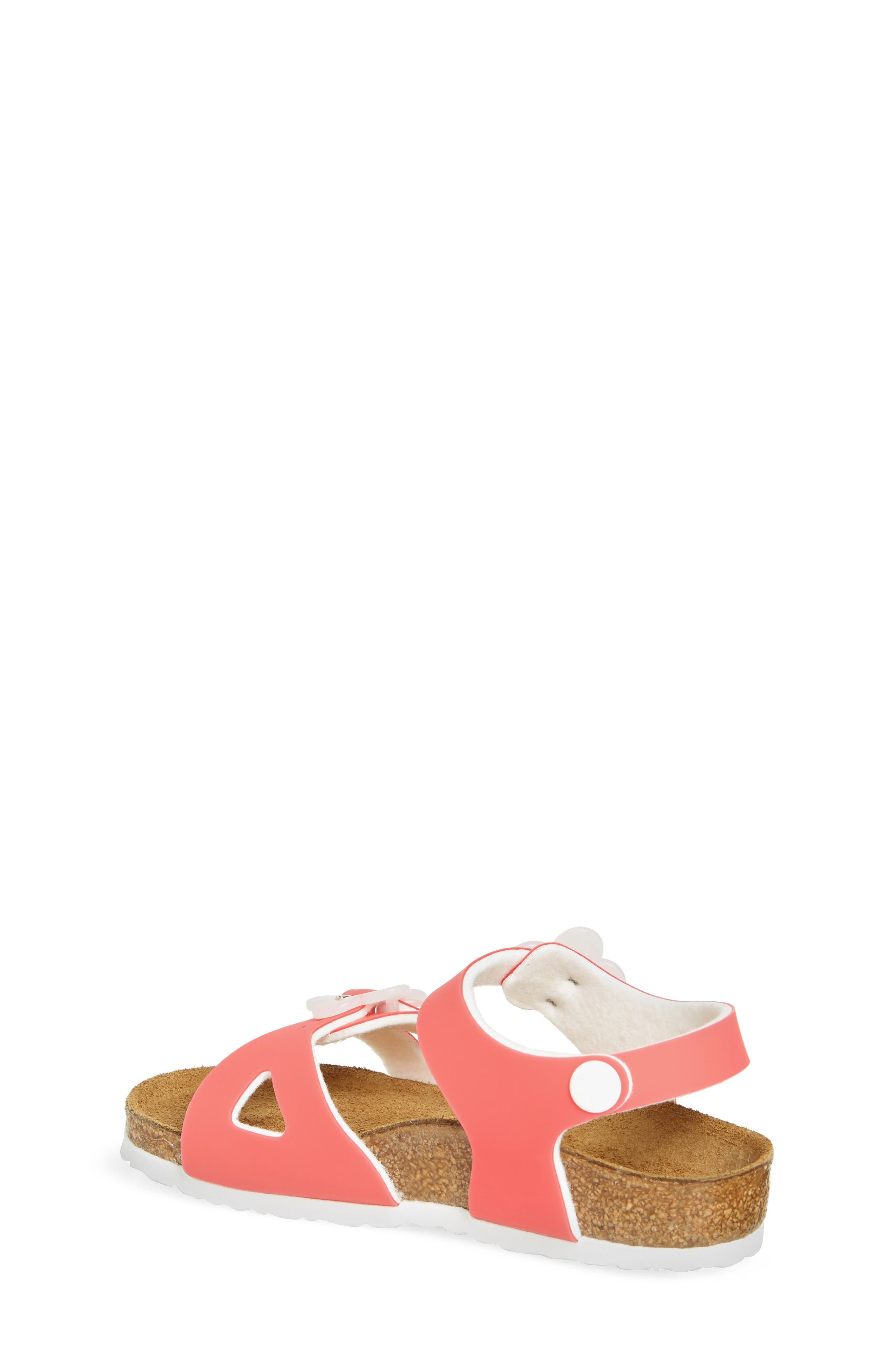 Rio Flowered Sandal,                             Alternate thumbnail 2, color,                             CANDY PINK