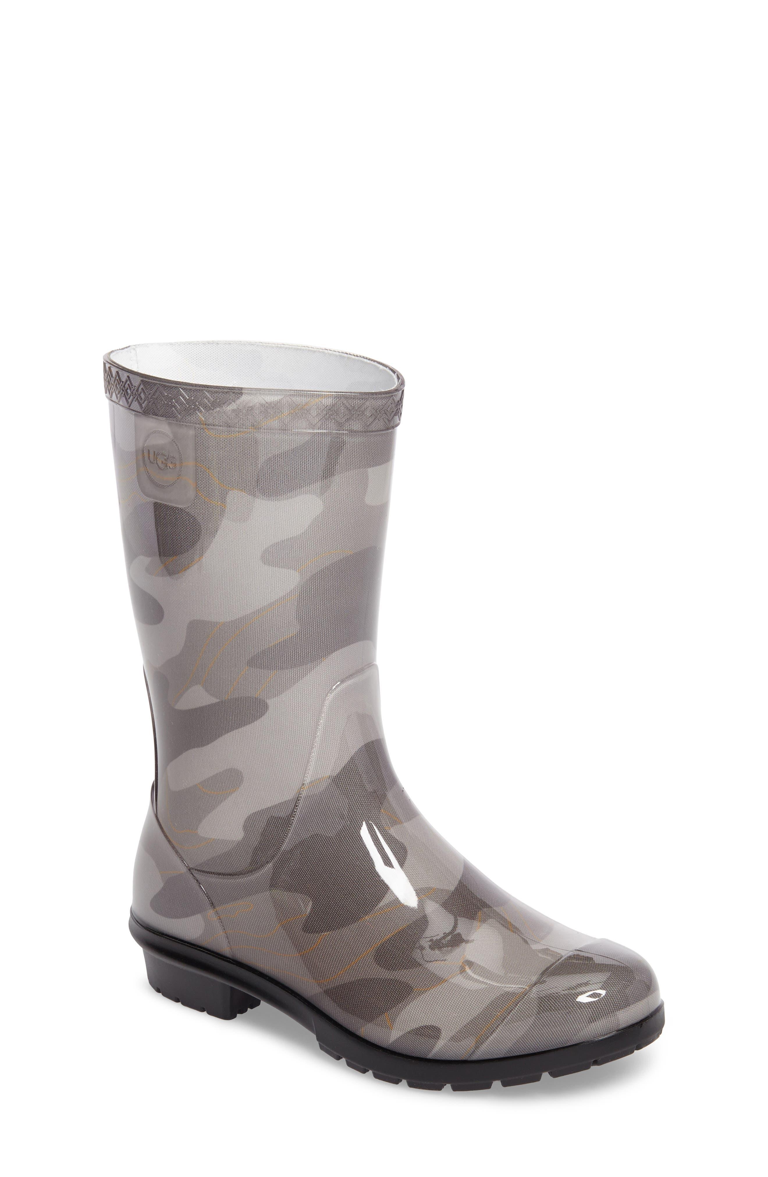 Rahjee Camo Waterproof Rain Boot,                             Main thumbnail 1, color,                             020