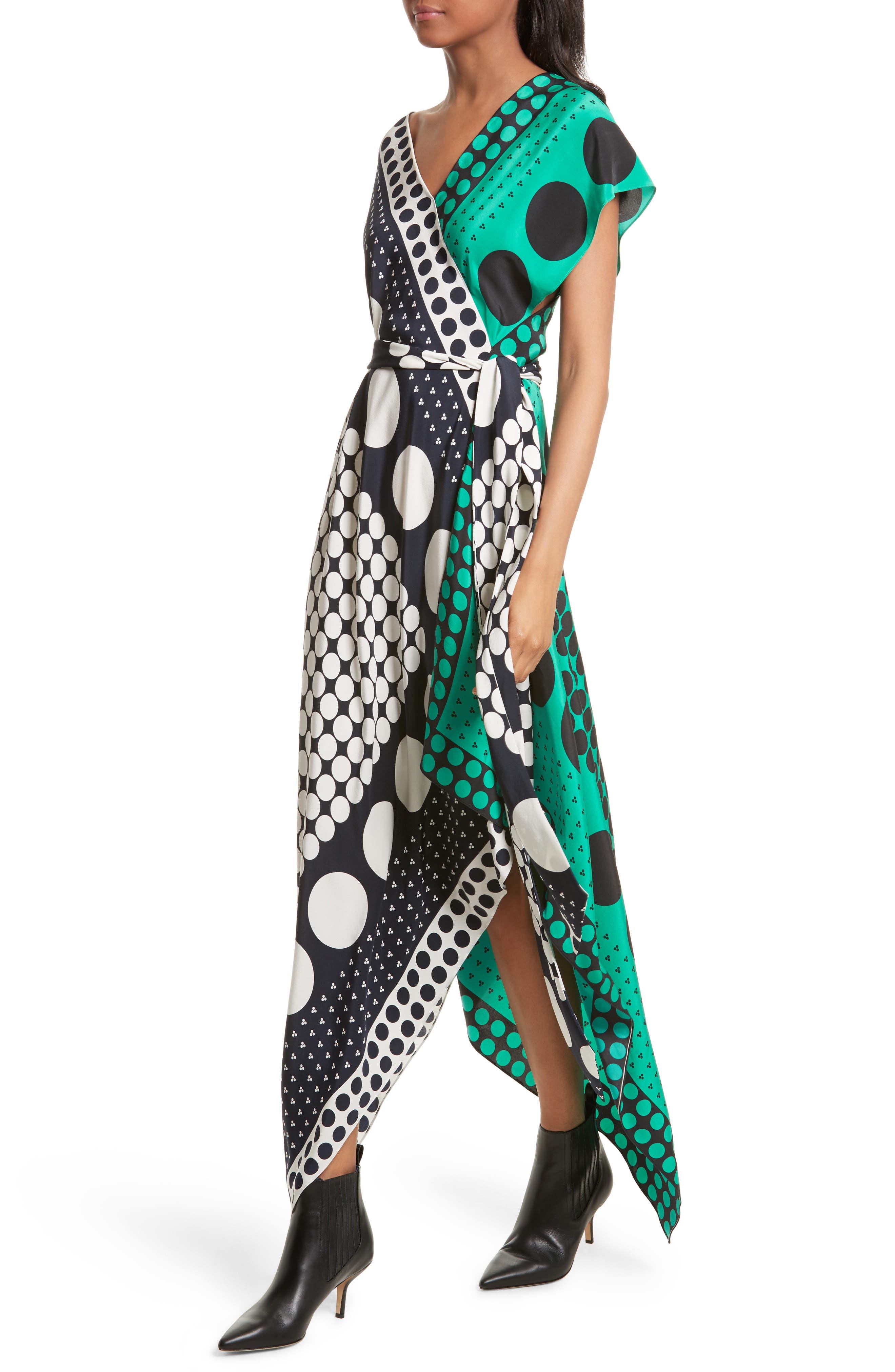 Asymmetrical Scarf Maxi Dress,                             Alternate thumbnail 4, color,                             005