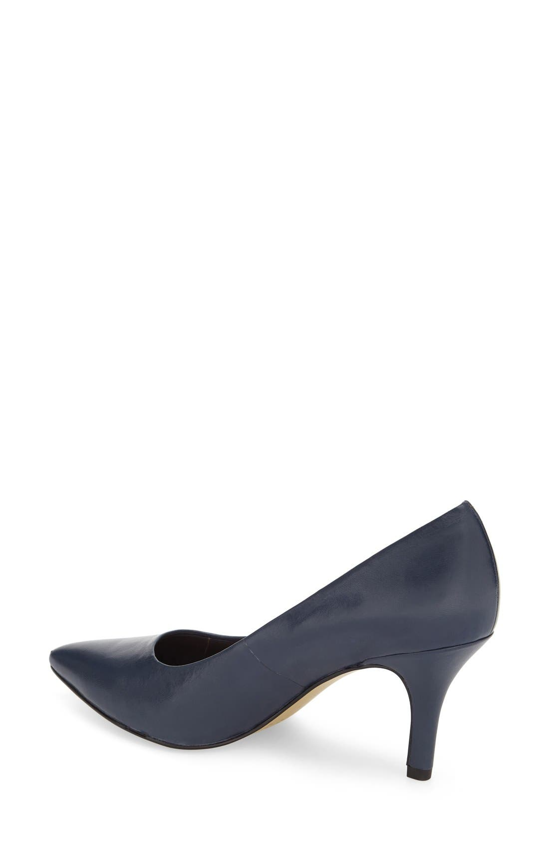'Define' Pointy Toe Pump,                             Alternate thumbnail 2, color,                             NAVY LEATHER