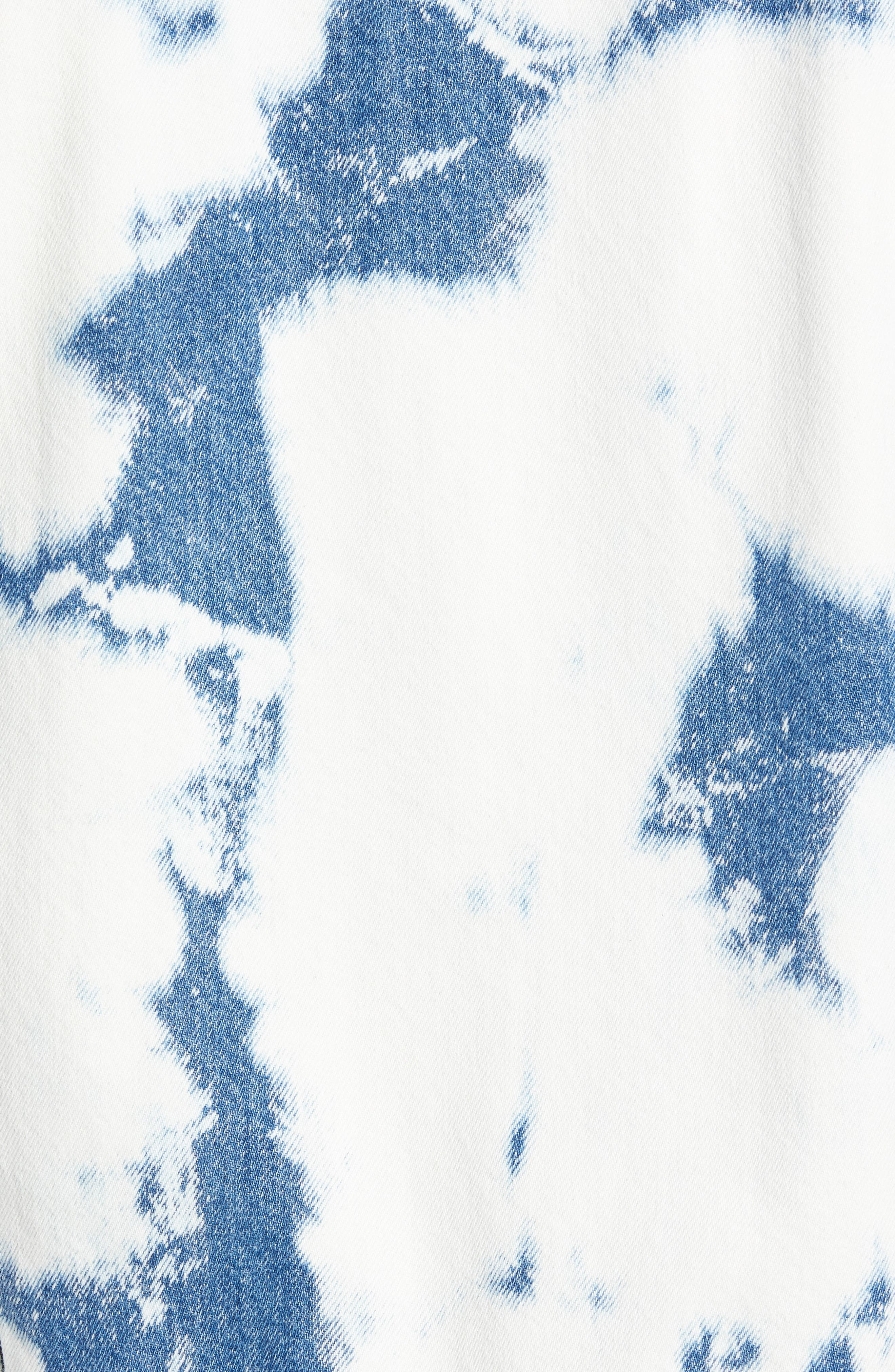 Stained Denim Jacket,                             Alternate thumbnail 7, color,                             STAINED